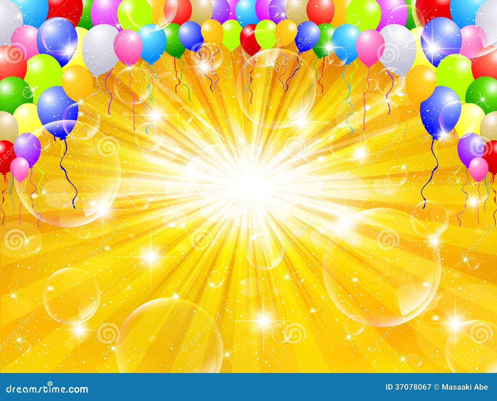 Download Balonowy nieba tło ilustracja wektor. Ilustracja złożonej z tło - 37078067