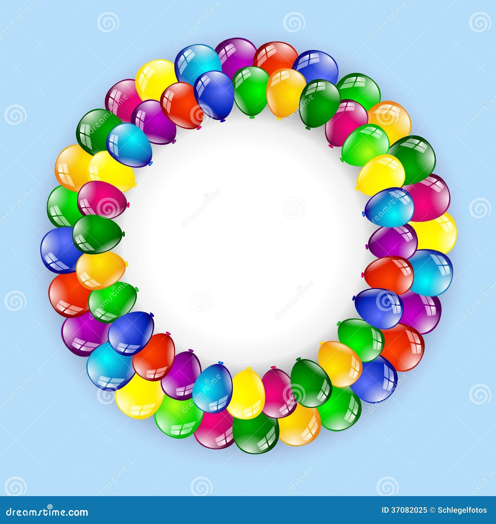 Download Balonowy urodzinowy tło ilustracji. Ilustracja złożonej z szczęście - 37082025