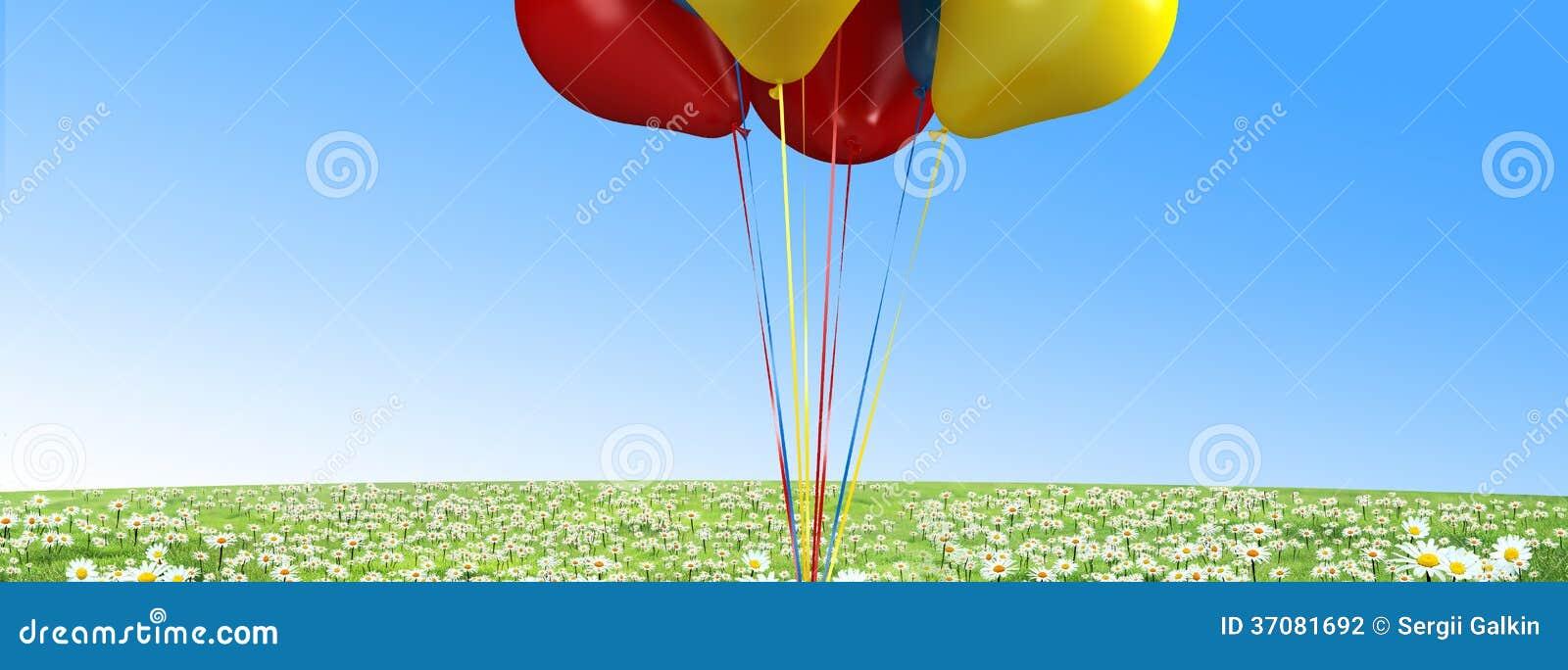 Download Balony zdjęcie stock. Obraz złożonej z balony, tło, fielder - 37081692