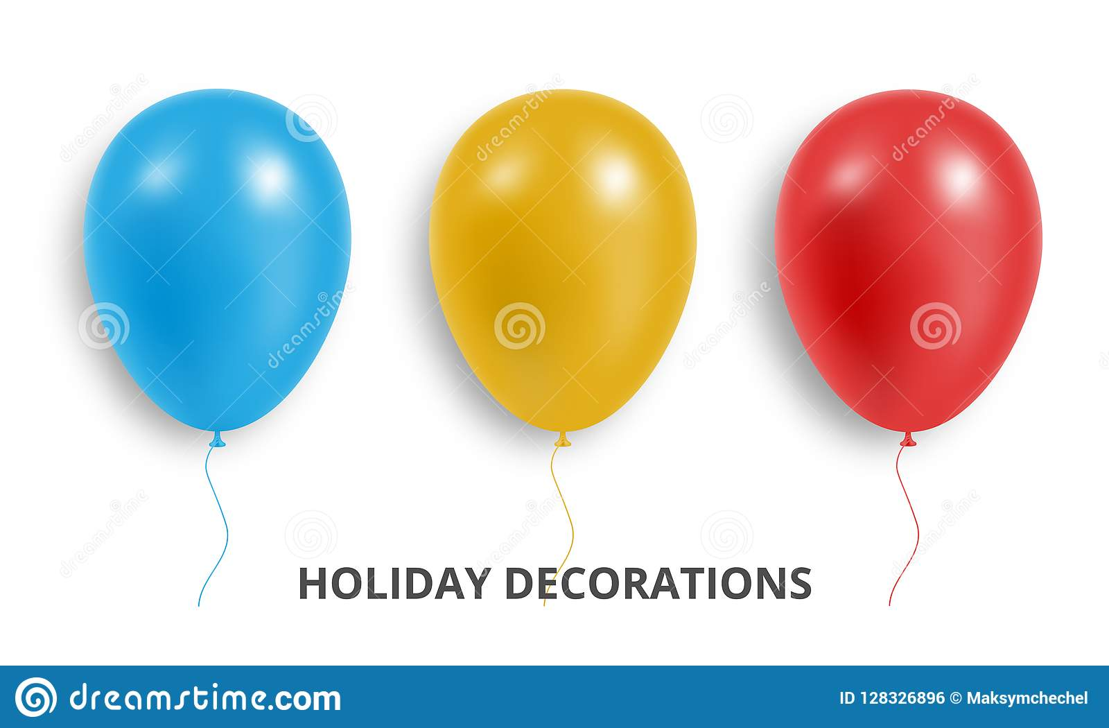 Balony Set realistyczna czerwień, błękit i kolor żółty, szybko się zwiększać Wakacje balonowe dekoracje