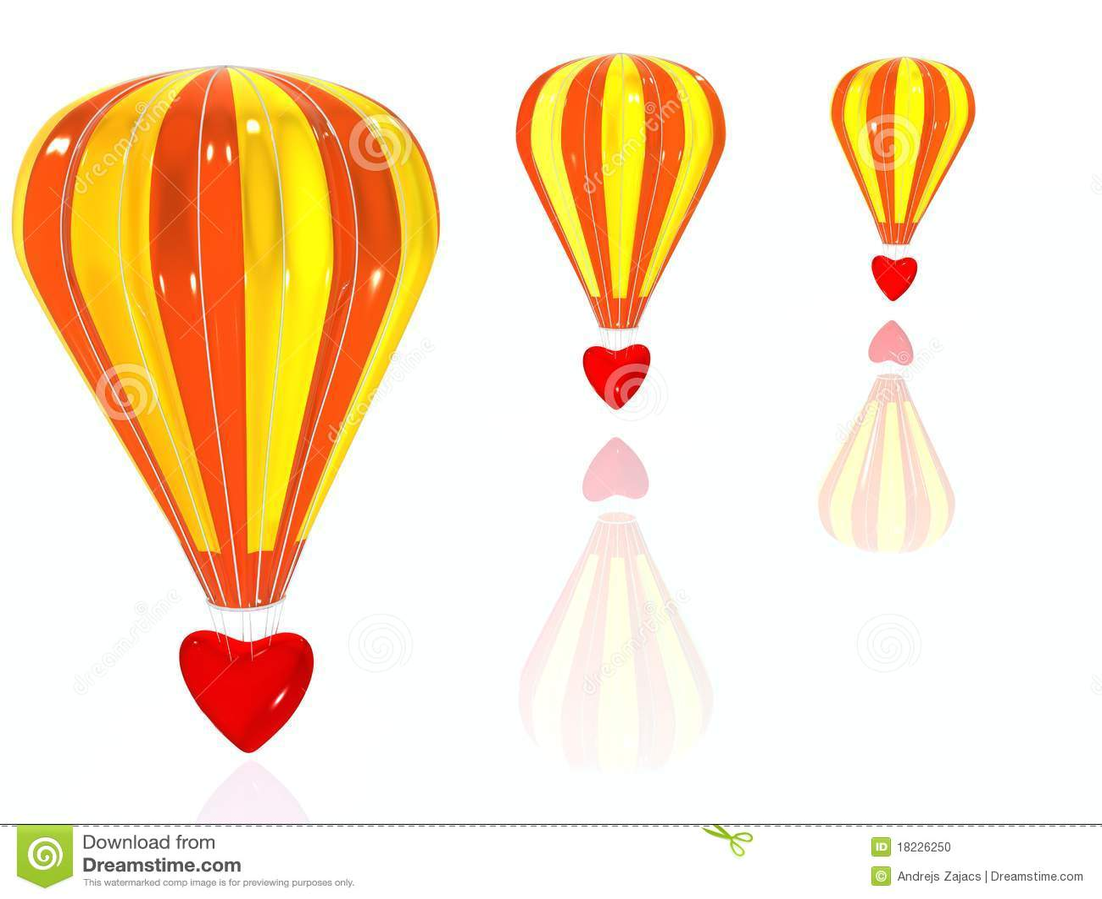 Baloon lotnicza miłość