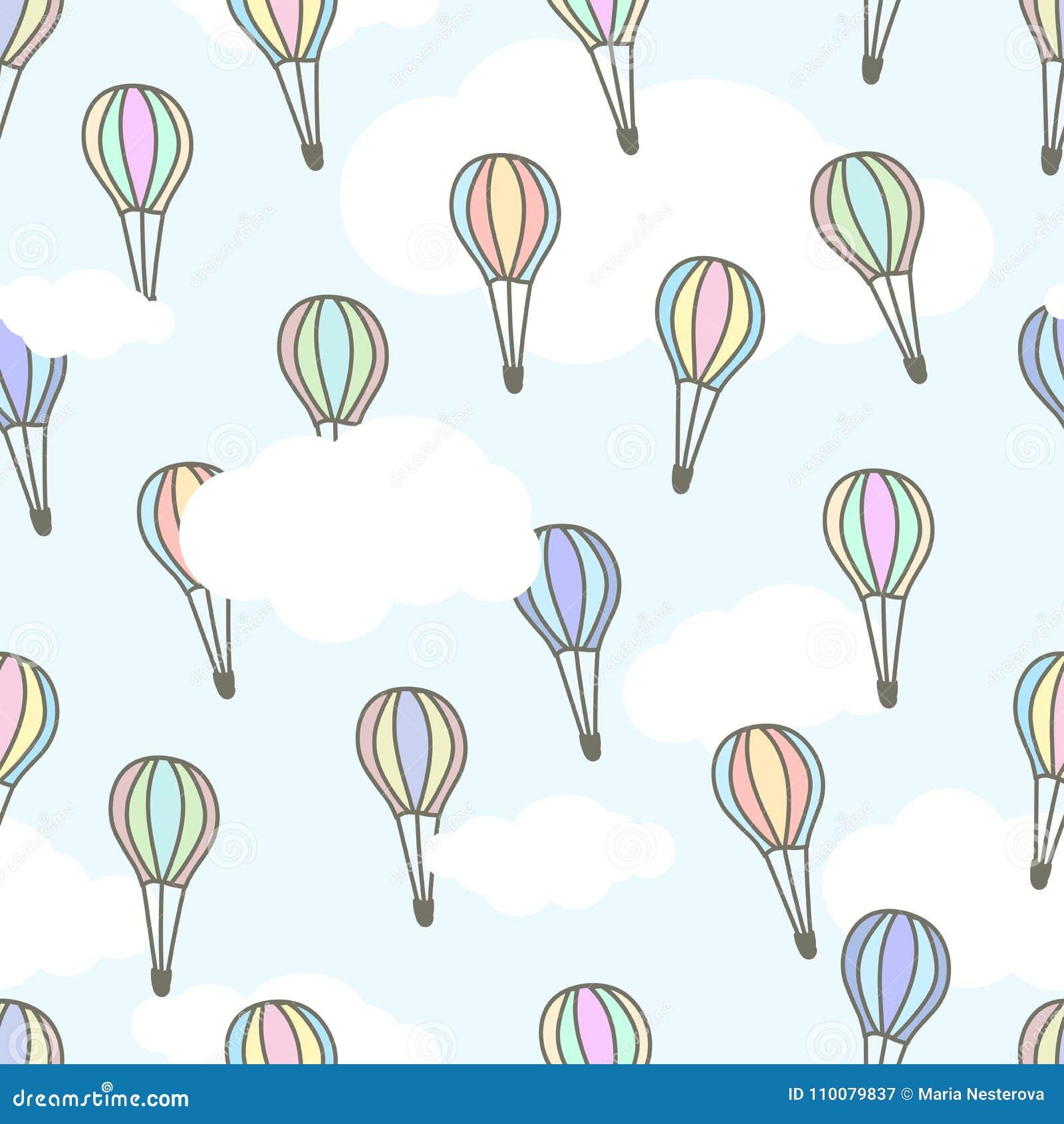 baloons bonitos do ar das cores diferentes que voam na luz céu