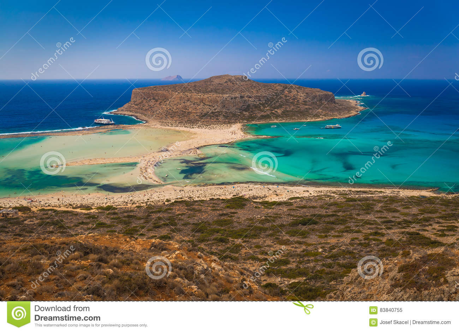 Balos beach and lagoon, Chania prefecture, West Crete, Greece