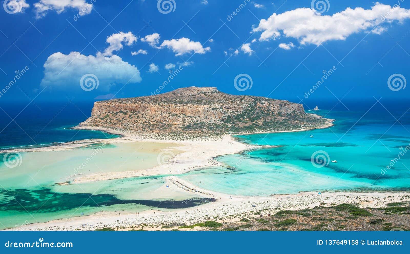 Balos Lagoon On Crete Island Greece Stock Photo Image Of