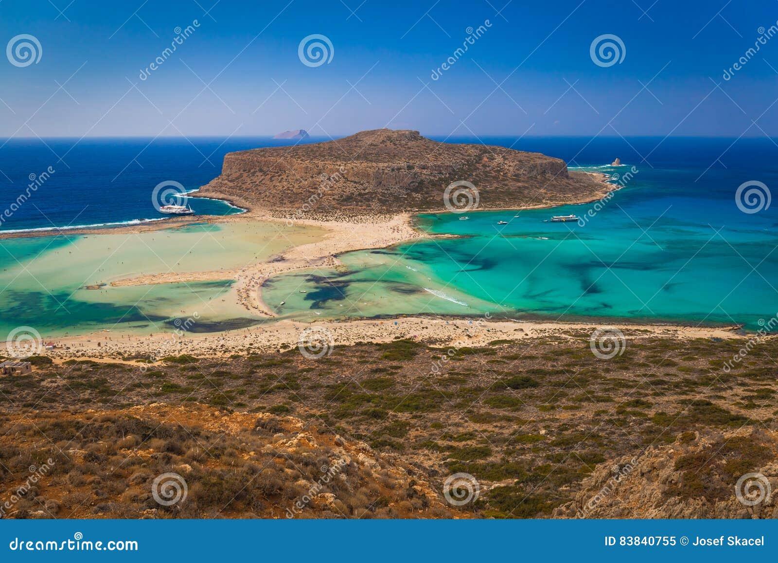 Balos plaża i laguna, Chania prefektura, Zachodni Crete, Grecja