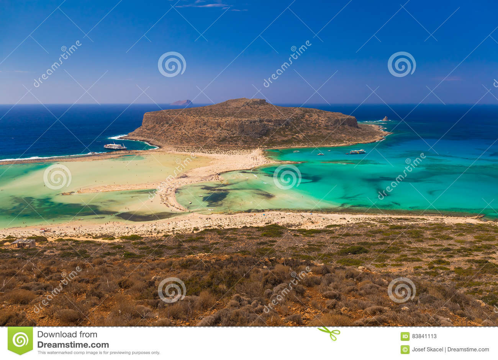 Balos-Strand und Lagune, Chania-Präfektur, West-Kreta, Griechenland
