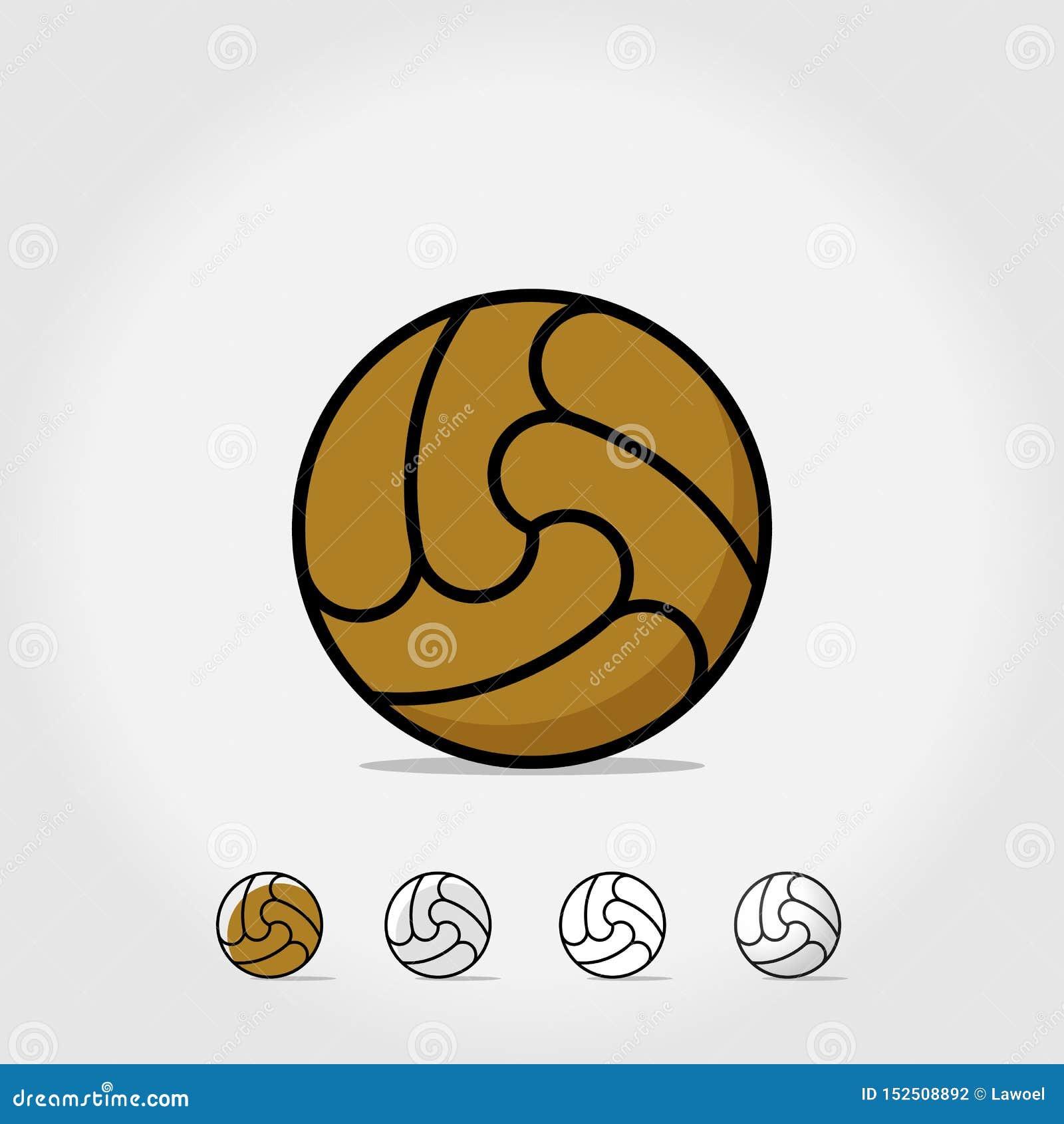 Balowa ikona pochodzenie jaj pojedynczy pi?ki no?nej white Loga wektoru ilustracja Futbol bawi się symbol, mistrzostwo piłki nożn