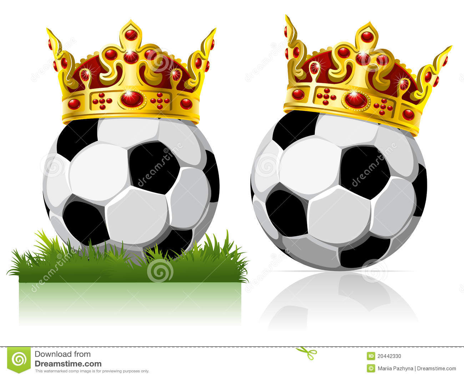 Balowej korony złota piłka nożna