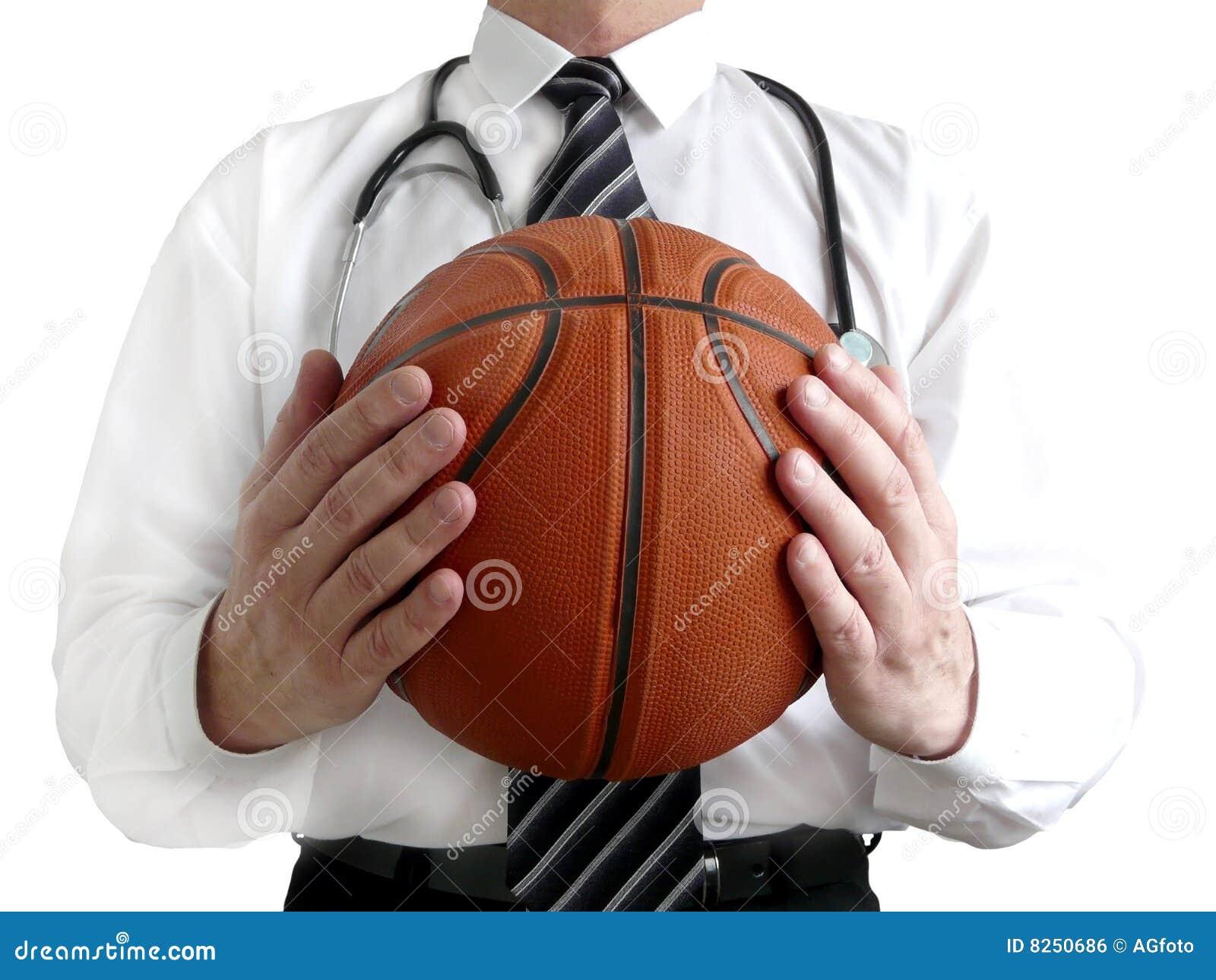 Balowy koszykówki lekarki mężczyzna
