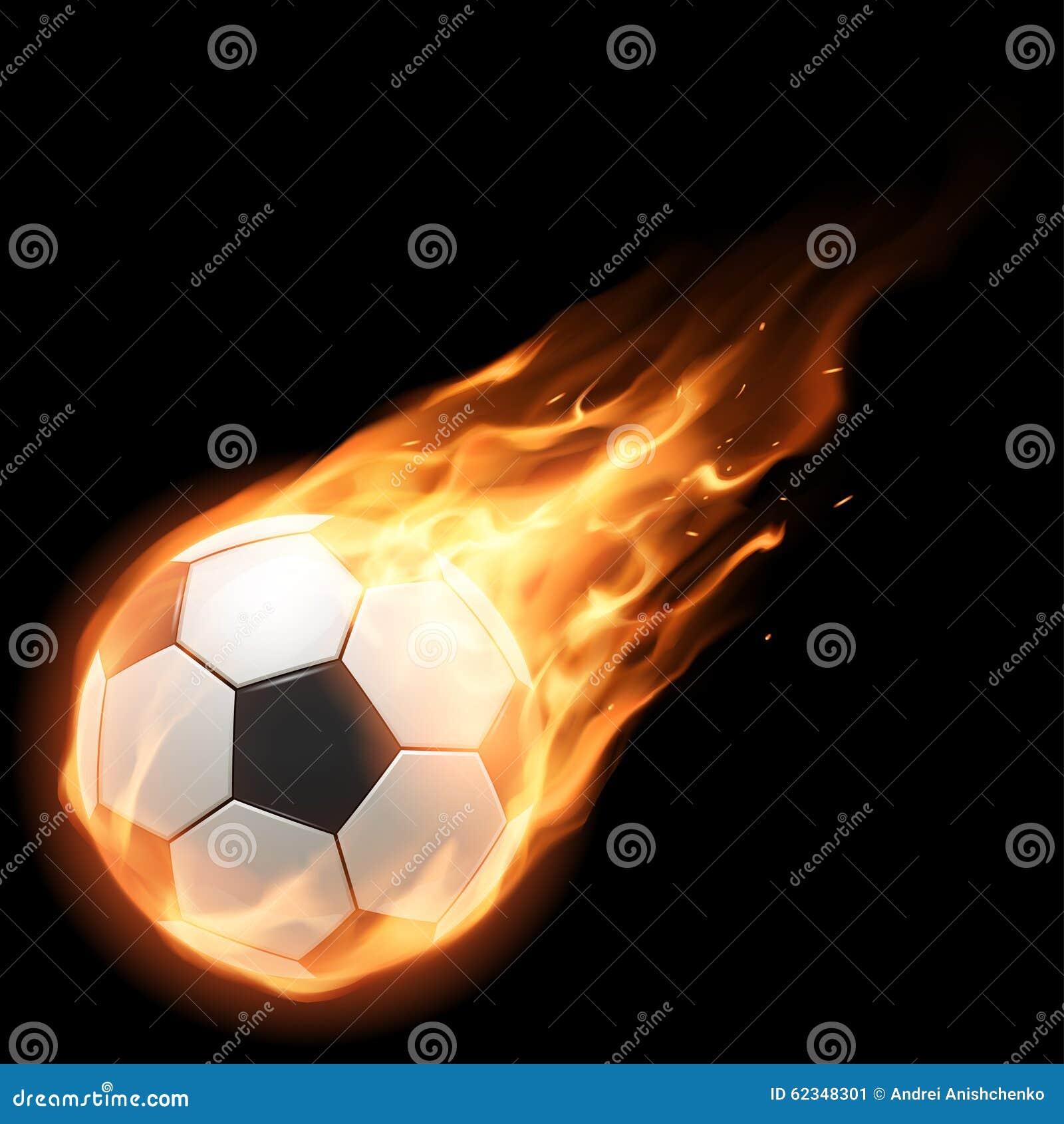 Balowy płonący futbol