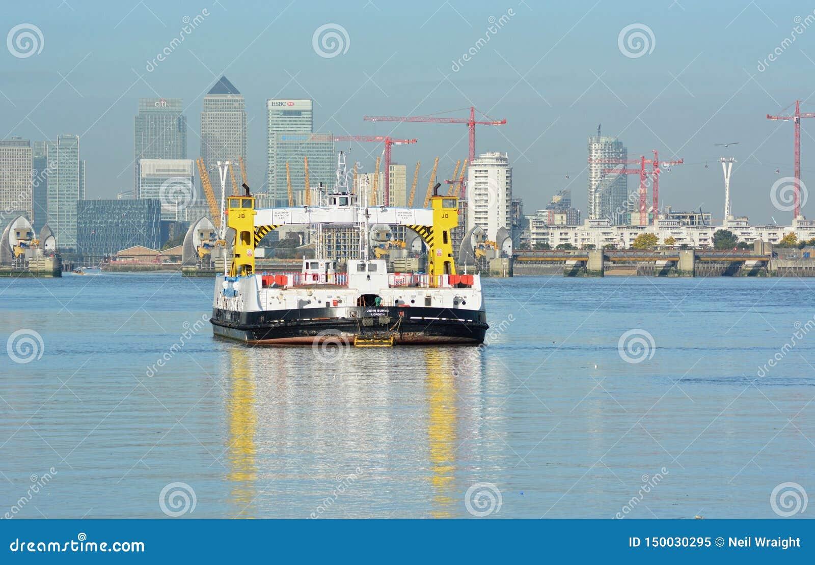 BALSA do rio Tamisa, do Woolwich & ZONAS DAS DOCAS, LONDRES, Reino Unido
