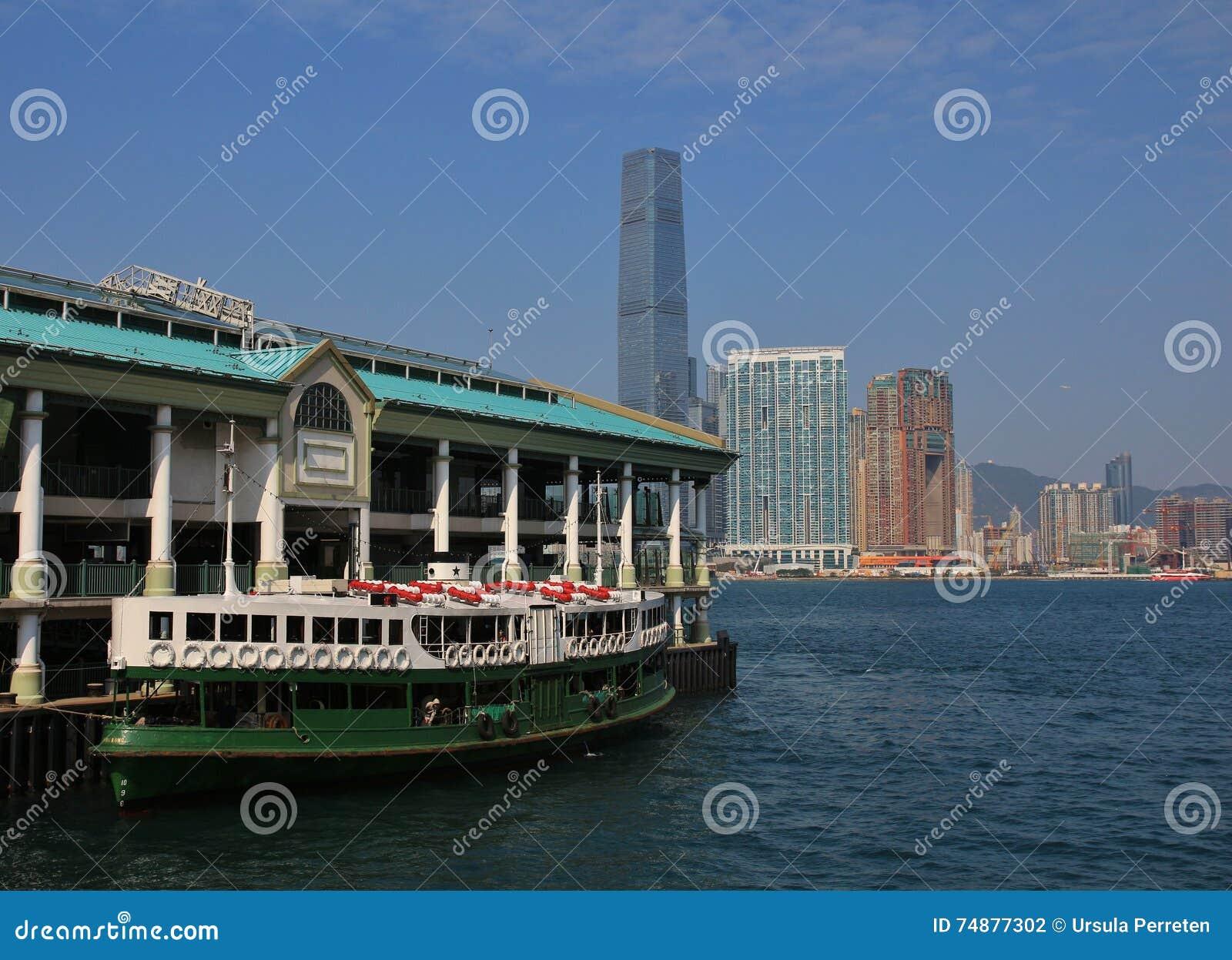 Balsa velha bonita em Hong Kong