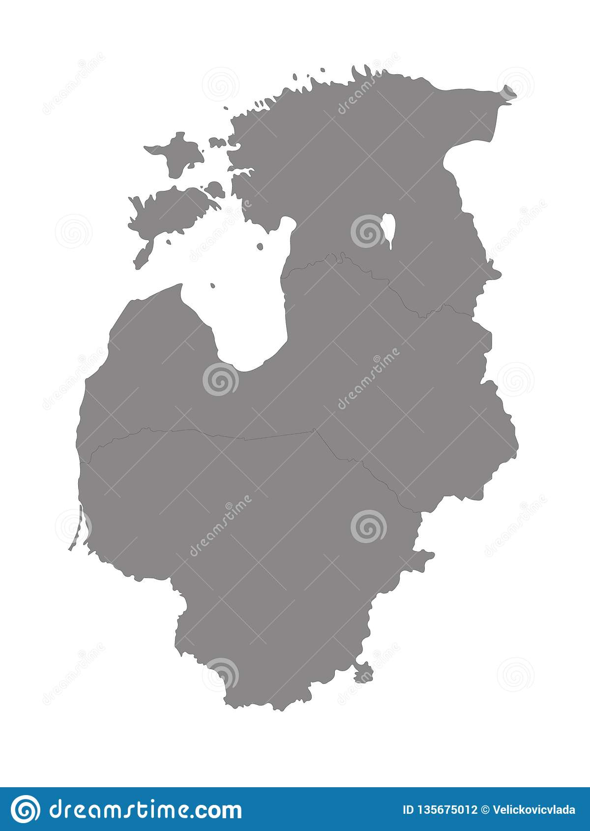 Baltic Countries Map - Baltic States, Baltic Republics ...