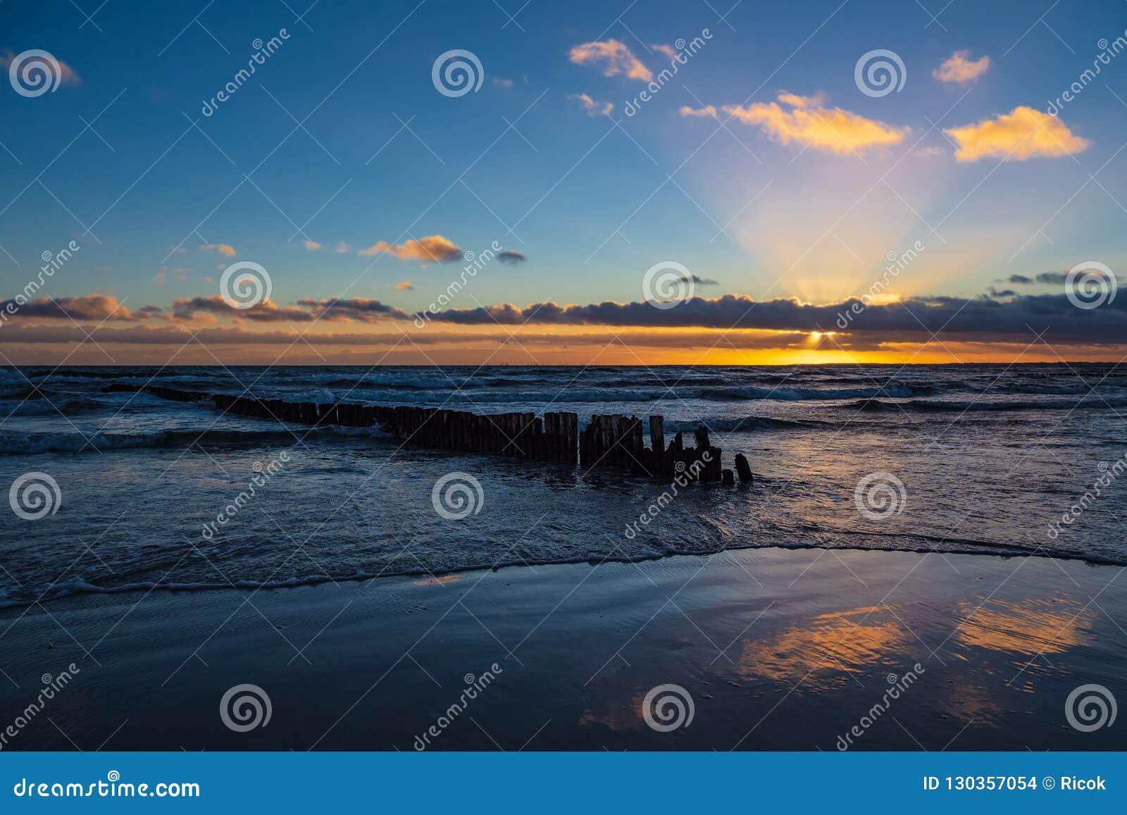 Baltic Sea coast on the island Moen in Denmark