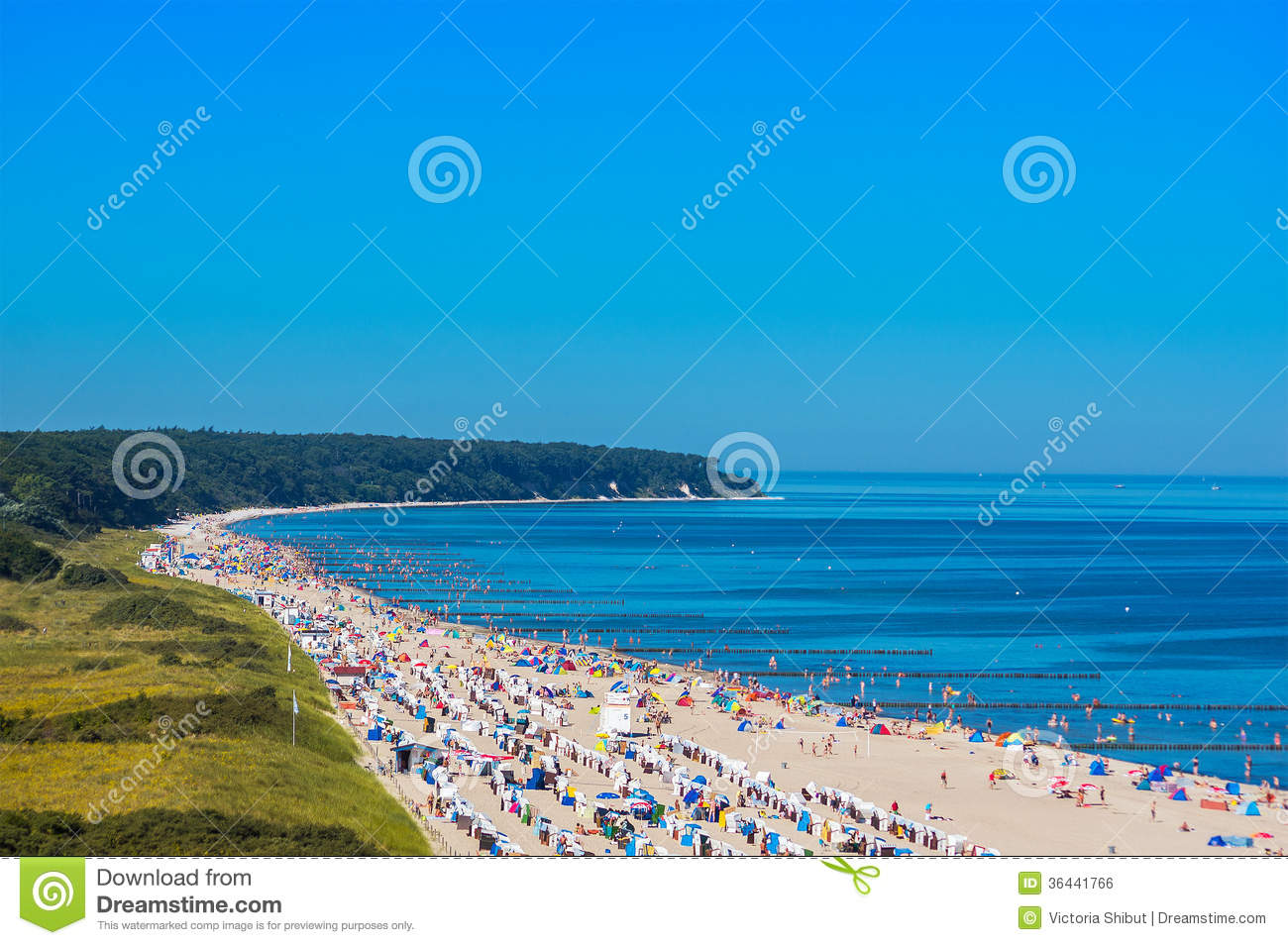 Baltic Sea Warnemnde Germany Beach Royalty Free Stock
