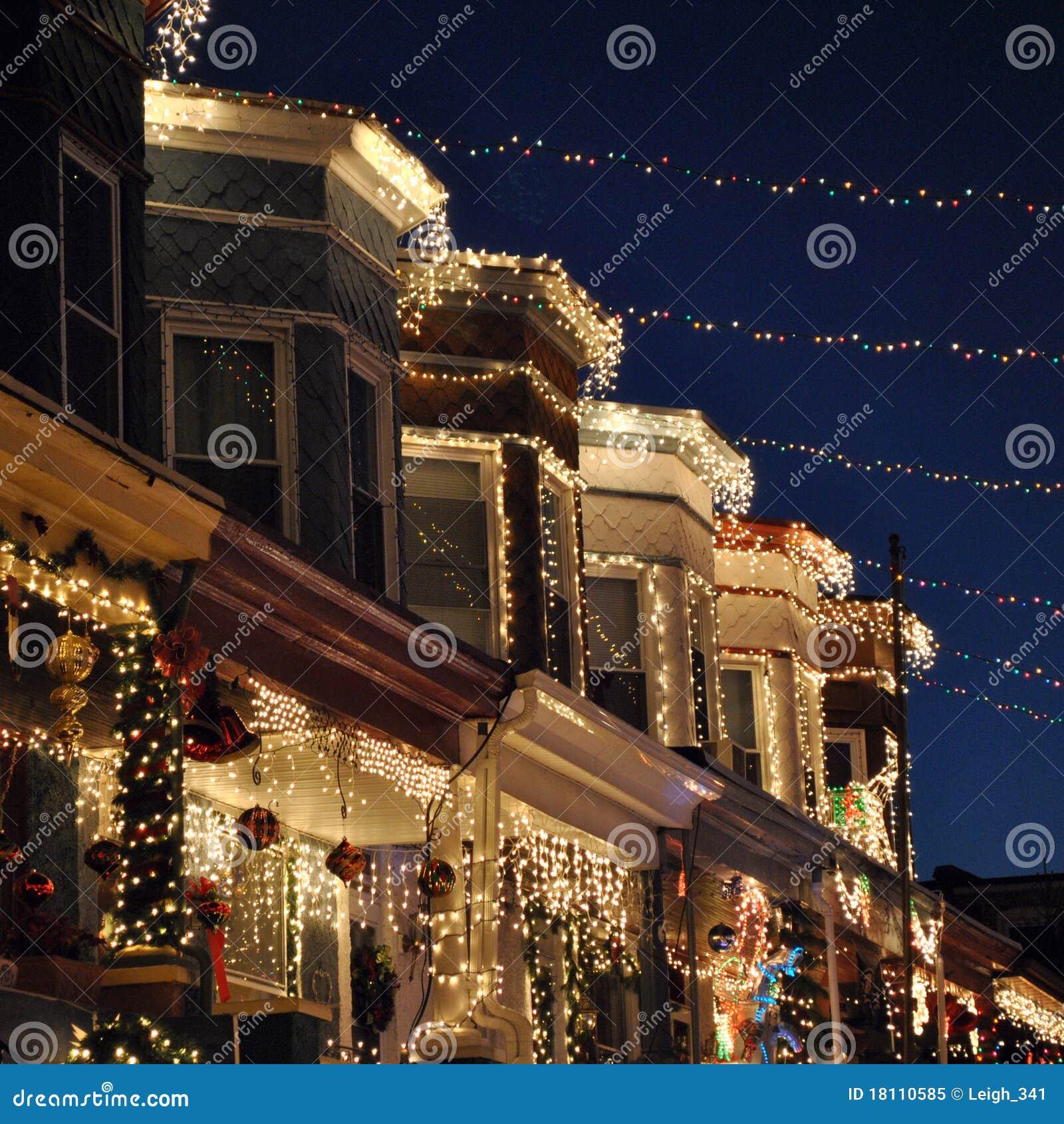 Baltimore Christmas Lights Royalty Free Stock Photo - Image: 18110585