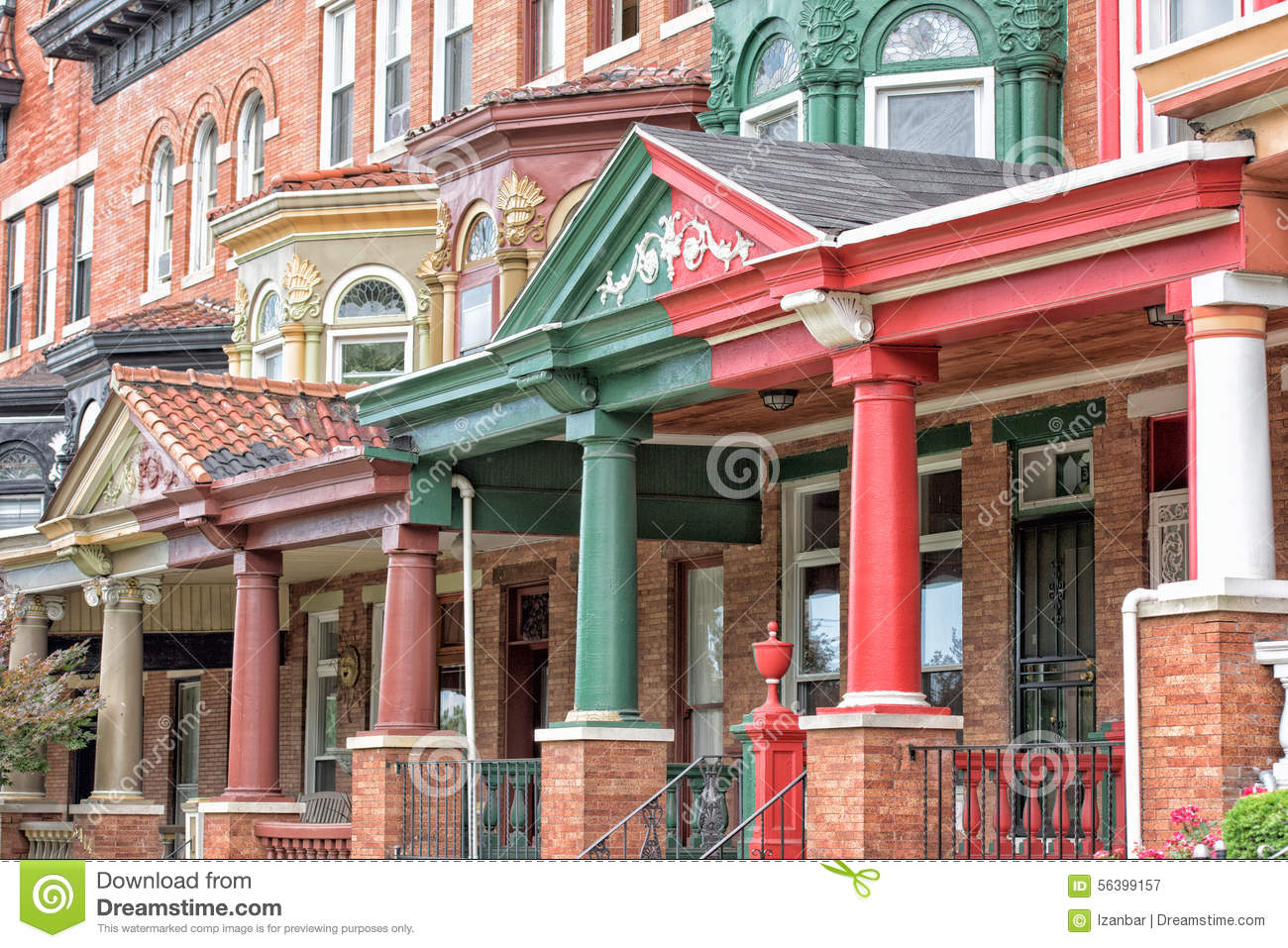 Baltimore druid hill old house window stock photo image for Bow window construction detail