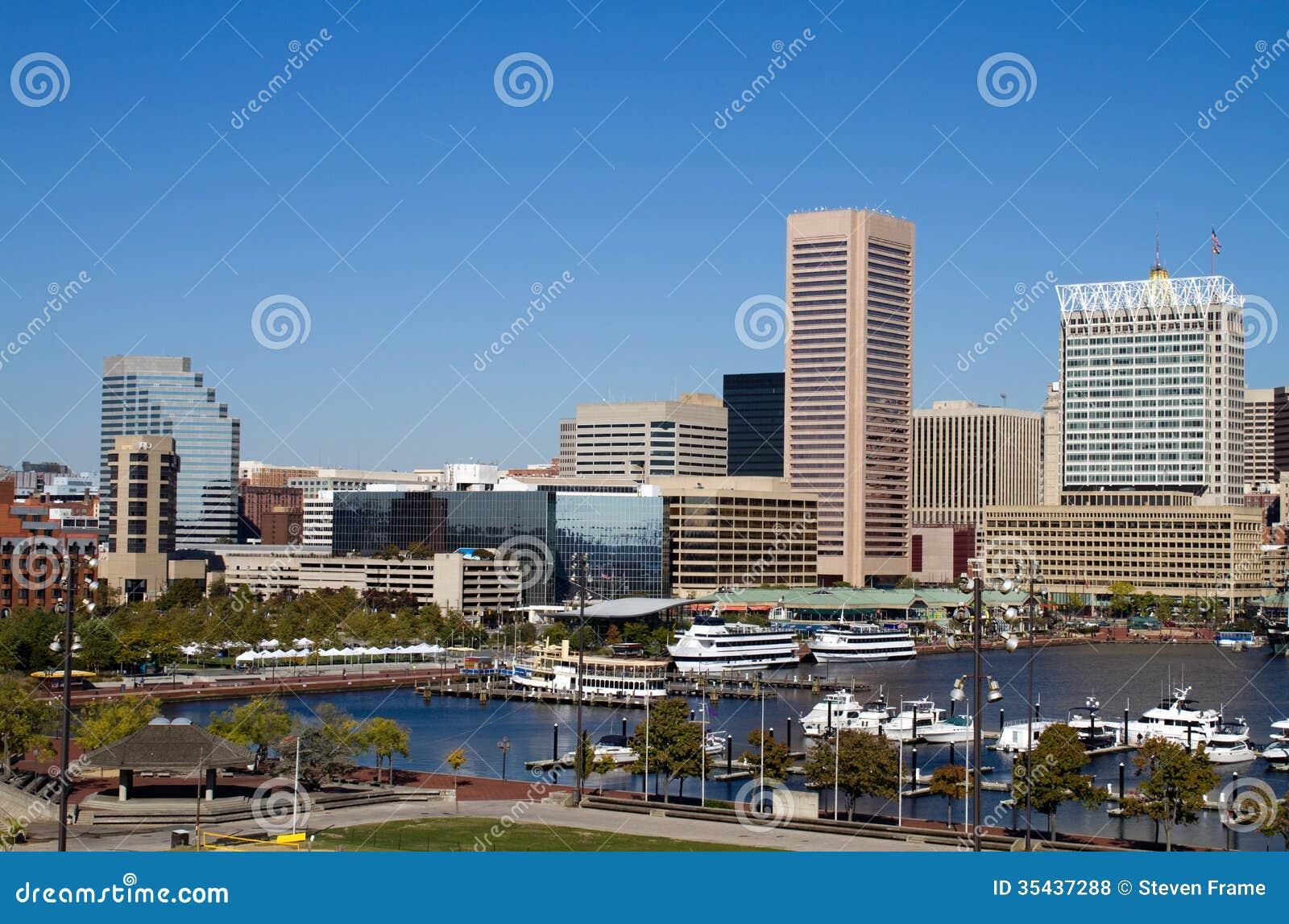 Baltimore Inner Harbor Stock Photo Image Of Marina Boats