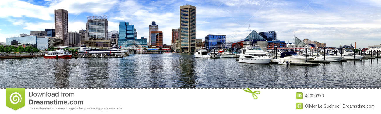 Baltimore Maryland Inner Harbor Marina Cityscape