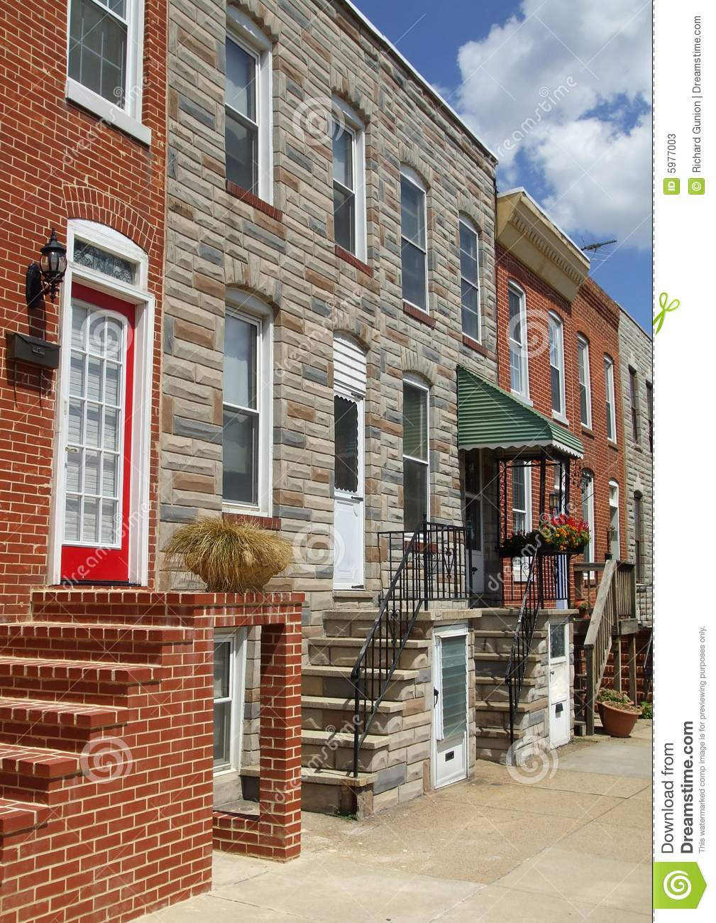 Baltimore Maryland Town Houses Stock Image Image 5977003