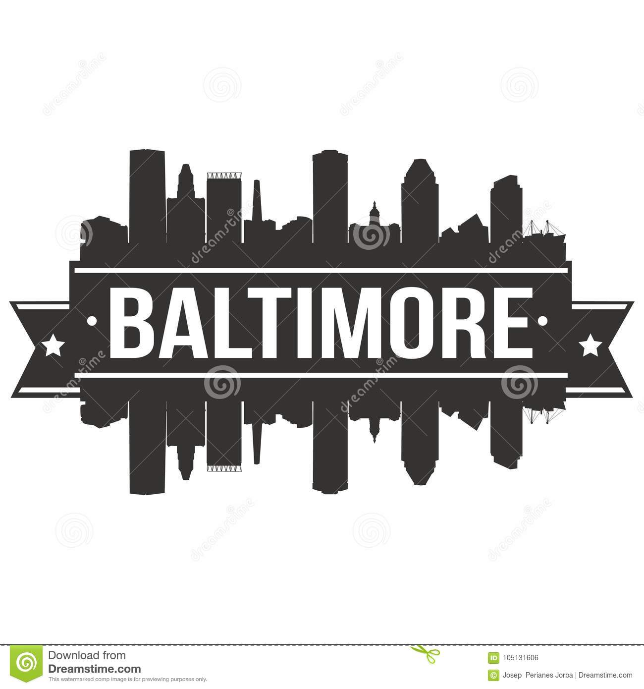 Baltimore Maryland United States Of America USA Icon Vector Art ...