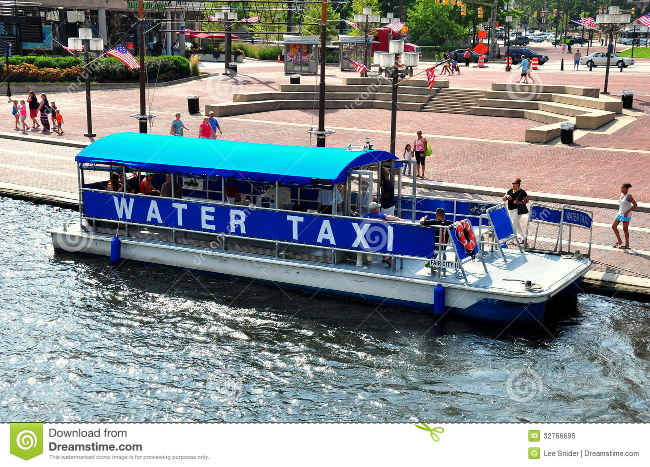 Baltimore Md Water Taxi At Inner Harbor Editorial Image