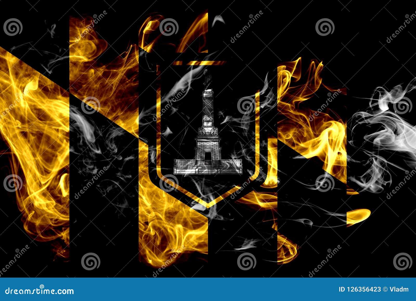 Baltimore miasta dymu flaga, Maryland stan, Stany Zjednoczone Amer