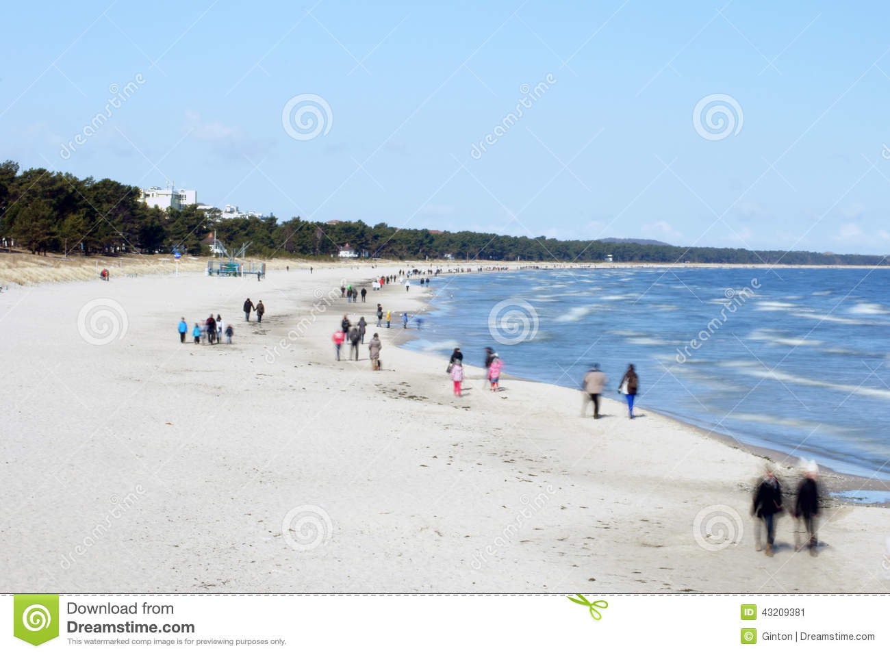 Download Baltisk strand Binz redaktionell bild. Bild av long, lopp - 43209381