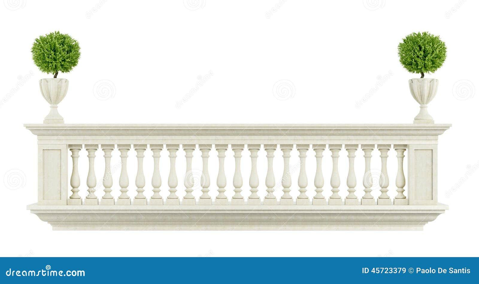 balustrade classique de balcon illustration stock image 45723379. Black Bedroom Furniture Sets. Home Design Ideas