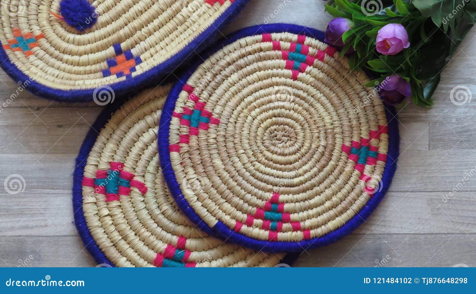 Bambú/Cane Trays tejidos hechos a mano hermosos