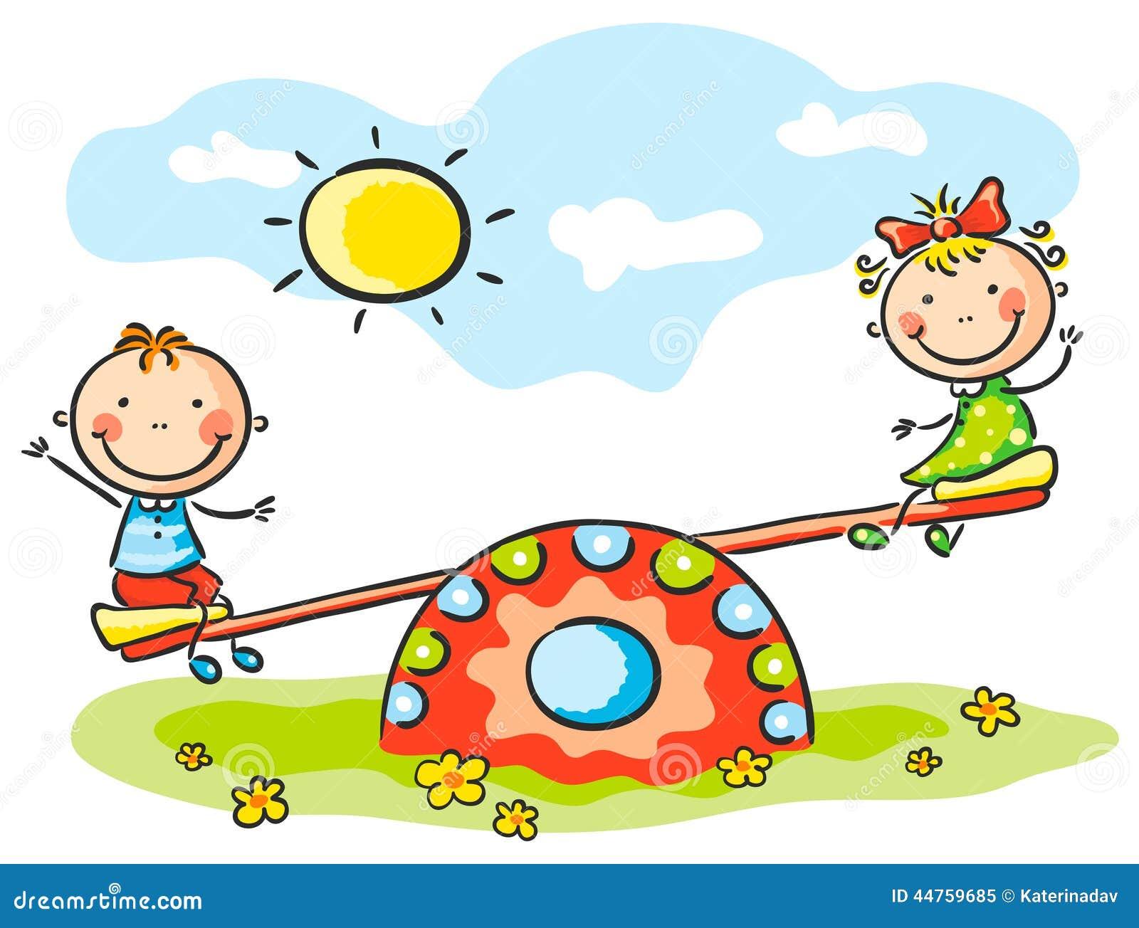 Bambini al campo da giuoco