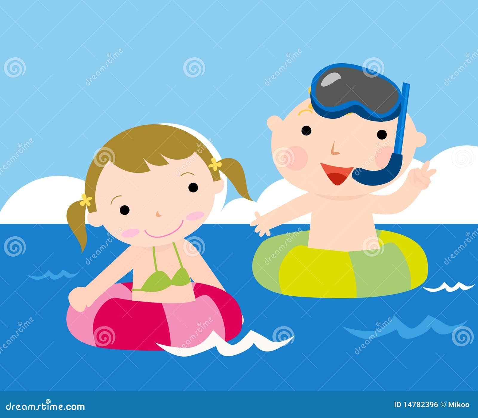 Foto Divertenti Bambini Al Mare bambini al mare illustrazione vettoriale. illustrazione di