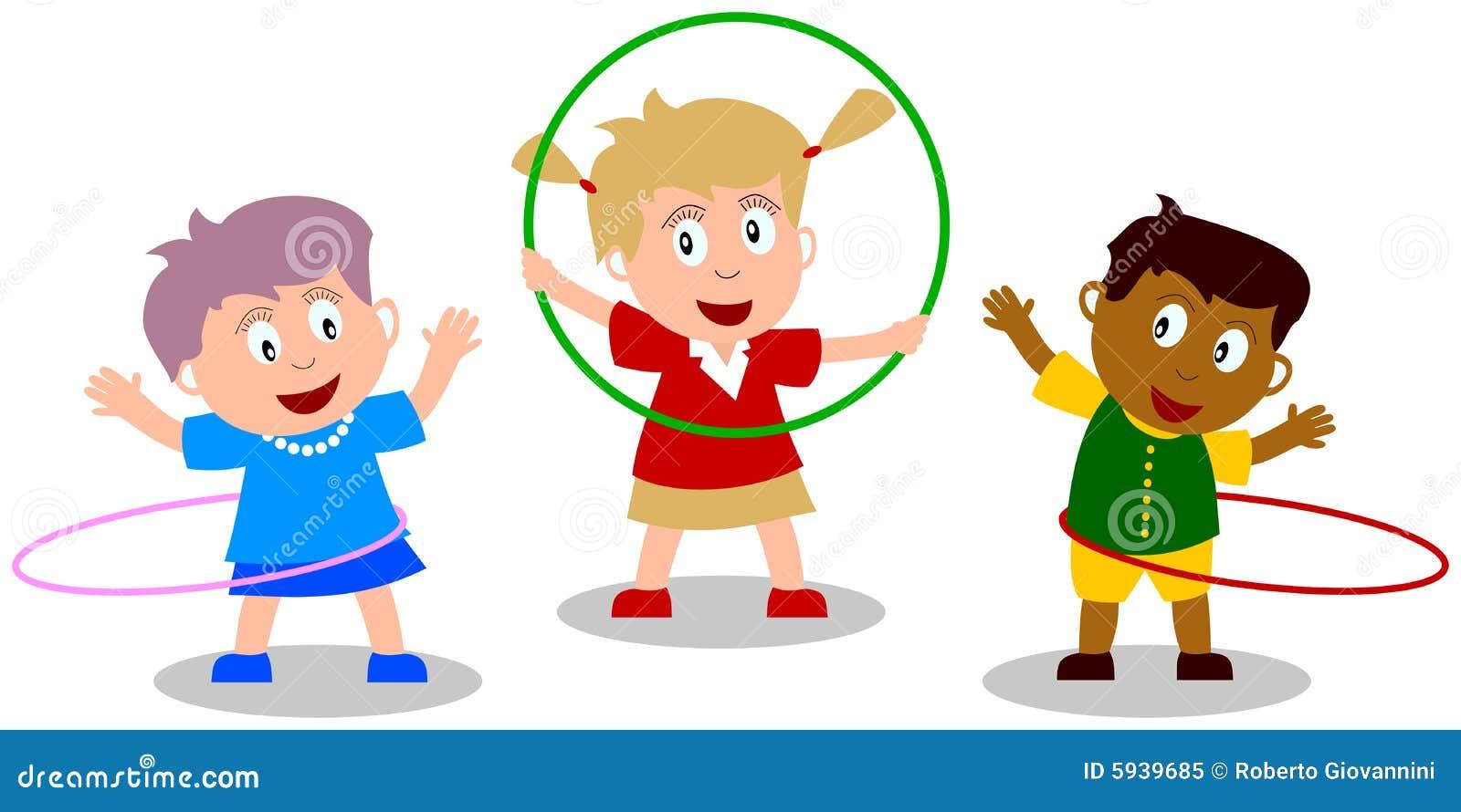 bambini che giocano cerchio di hula illustrazione di hula hoop clip art images hula hoop clipart