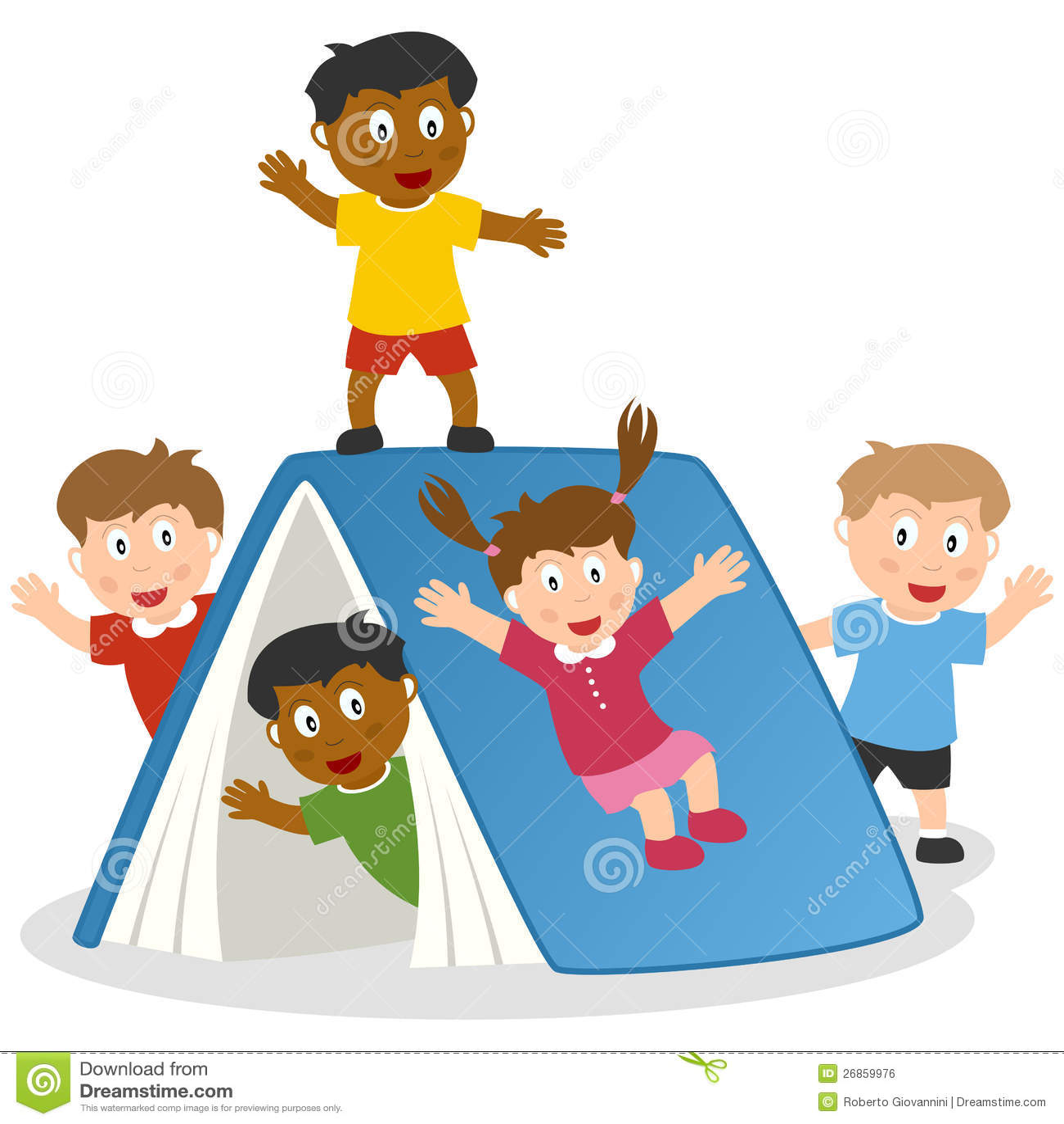 Bambini Che Giocano Con Il Libro Gigante Illustrazione Vettoriale