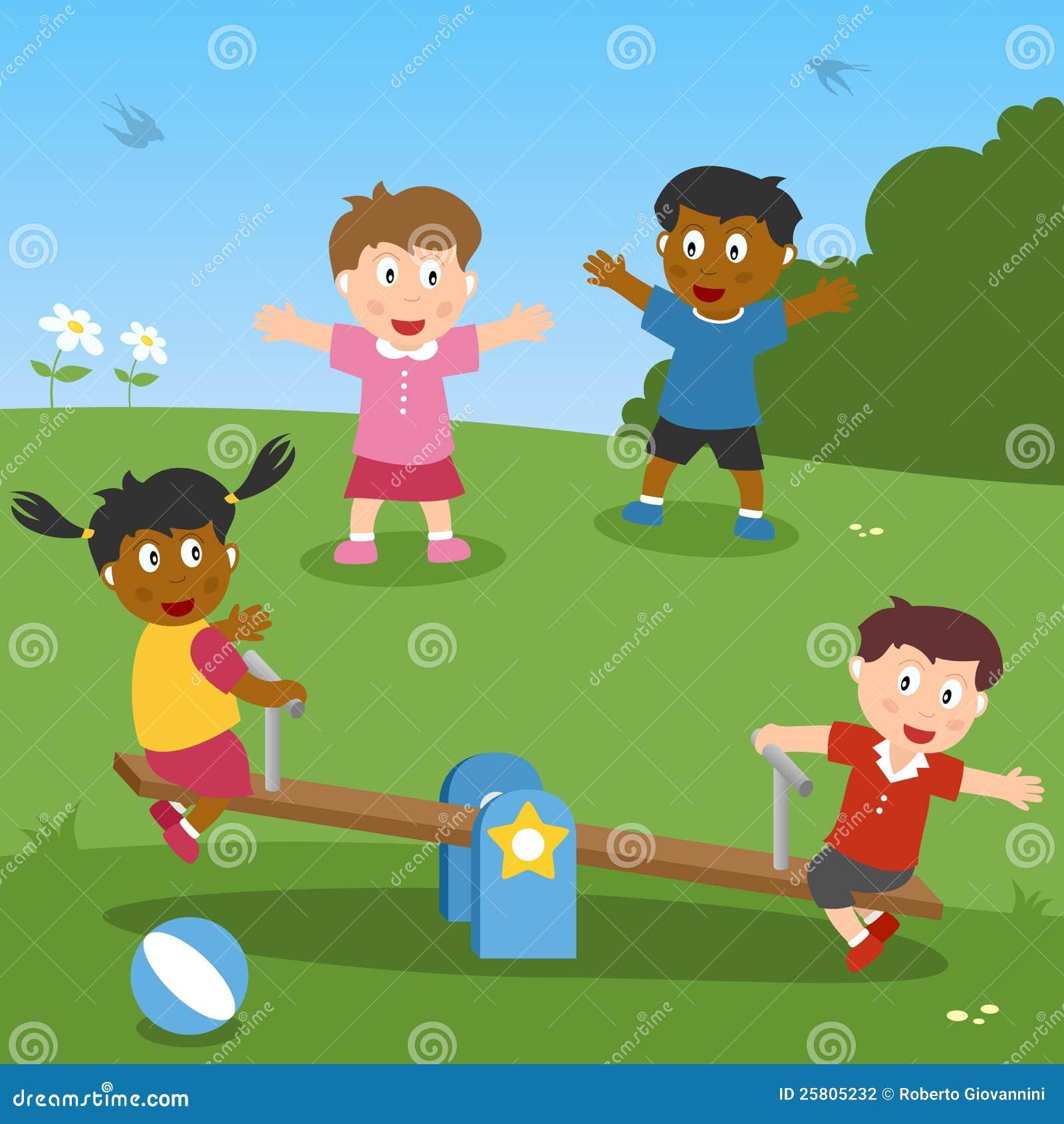 Preferenza Bambini Che Giocano Con Il Movimento Alternato Illustrazione  LK41