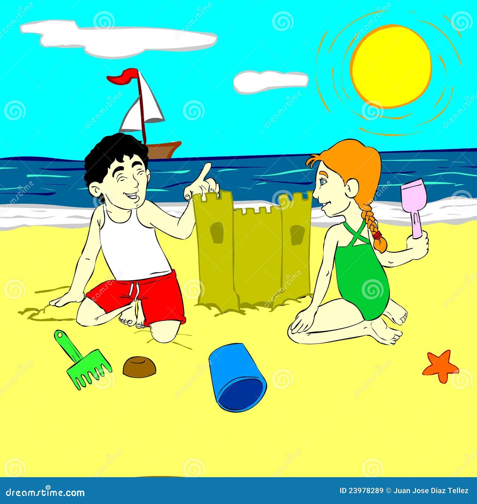 Immagini stock libere da diritti: bambini che giocano nella sabbia