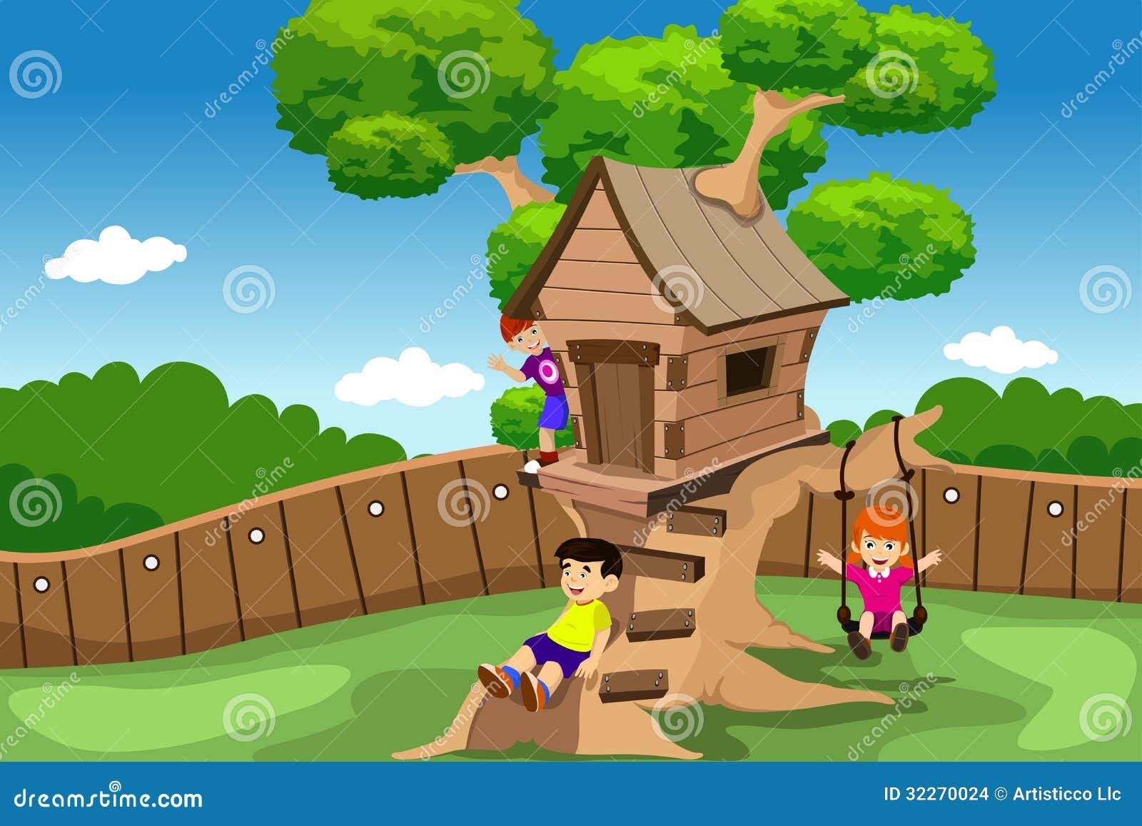 Casa sull albero per giardino de bambini - Come costruire una casa sull albero per bambini ...