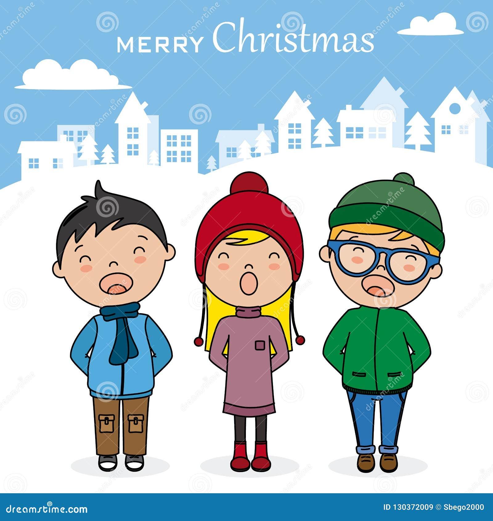 Canzoni Di Natale Bambini.Bambini Con I Libri Che Cantano Le Canzoni Di Natale