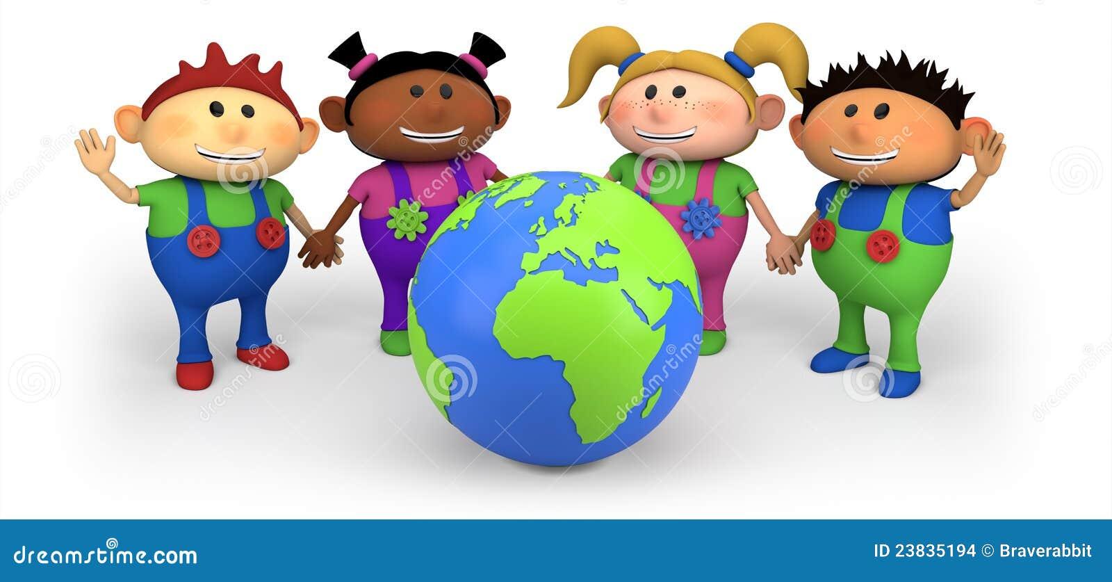 Bambini con il globo