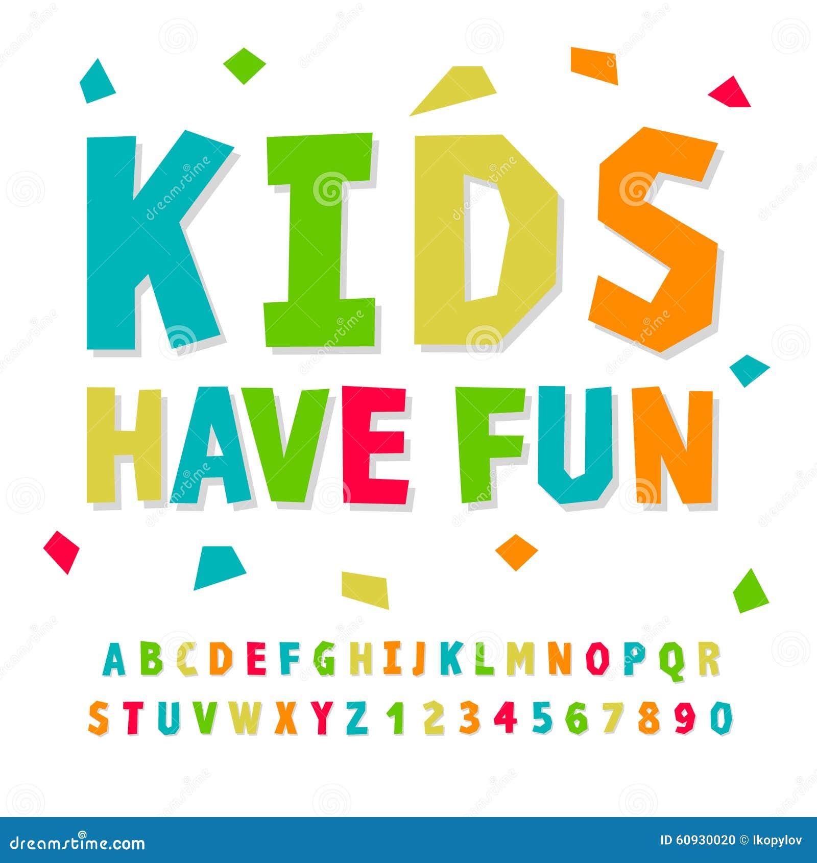 Bambini Creativi Alfabeto E Numeri Divertenti Illustrazione
