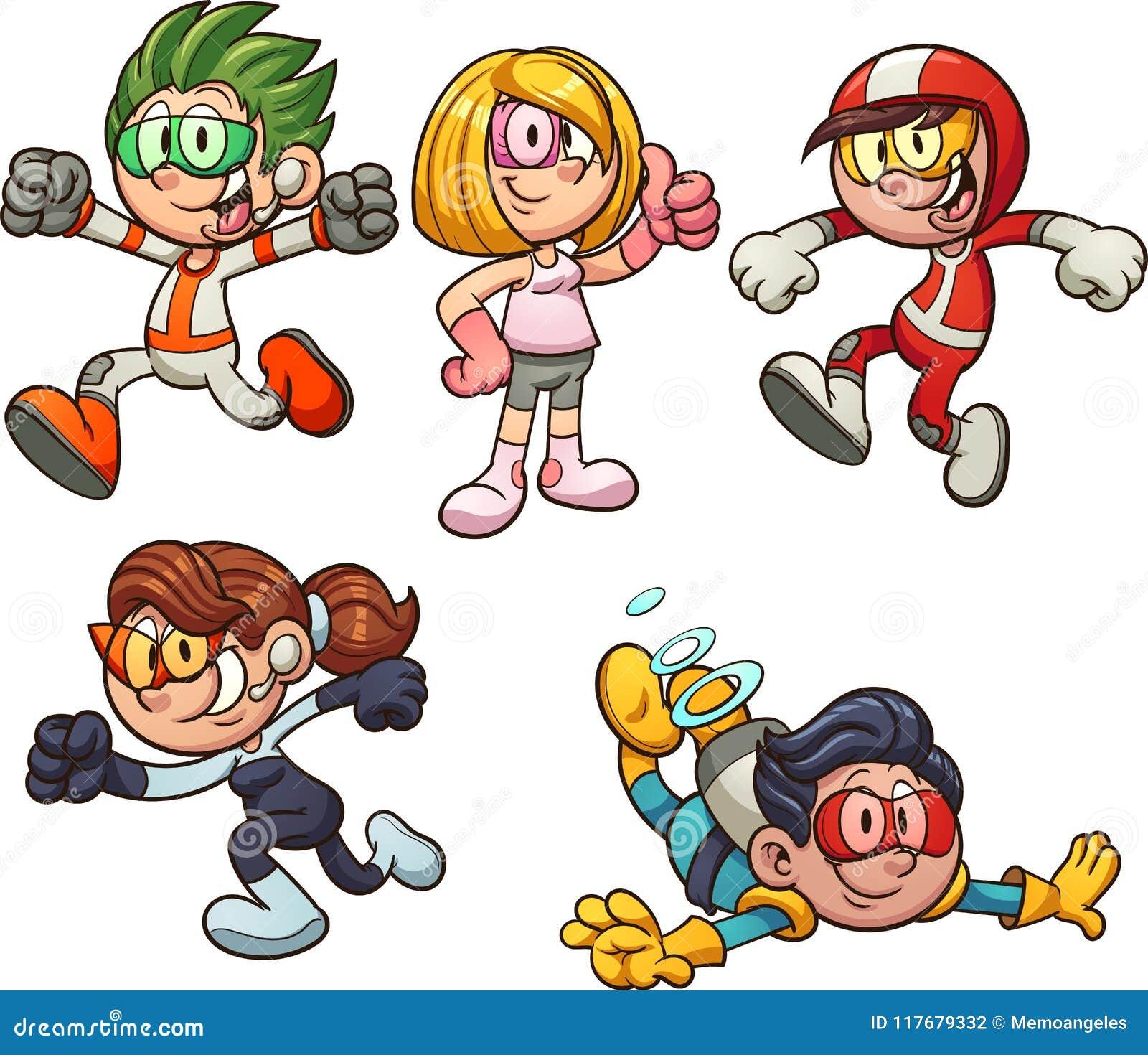Bambini del fumetto a partire dal futuro