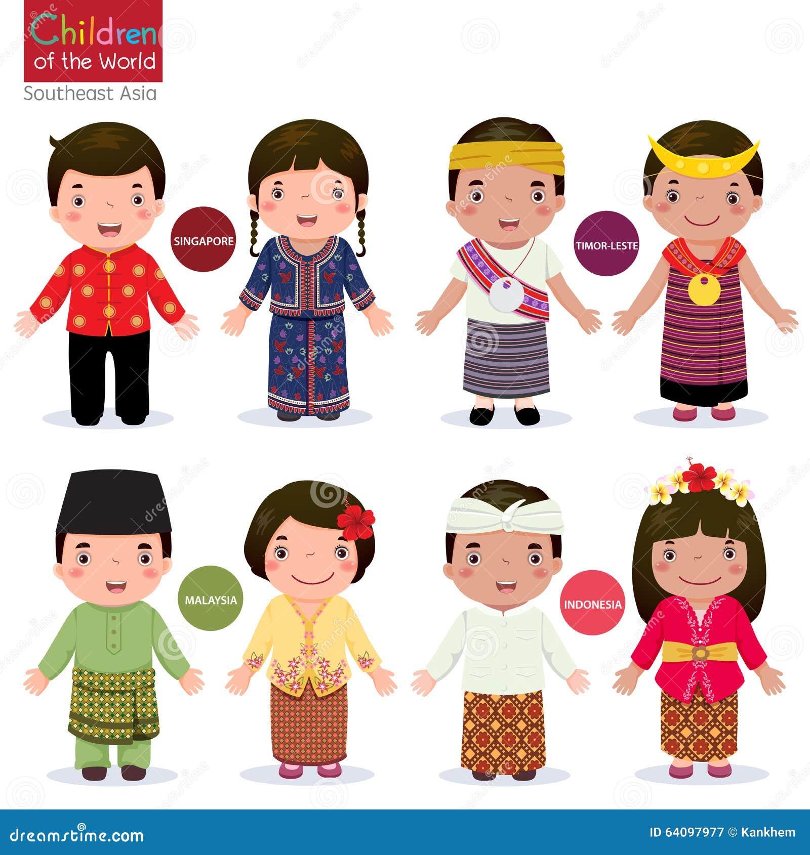 Bambini del mondo illustrazione vettoriale. Immagine di ... X 23 Costume