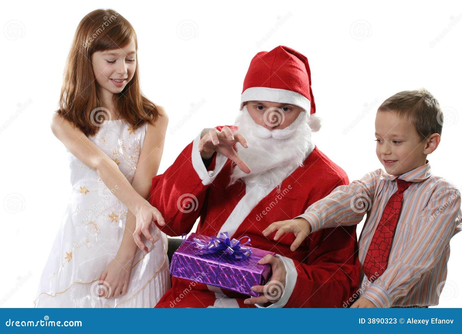 Bambini e Santa
