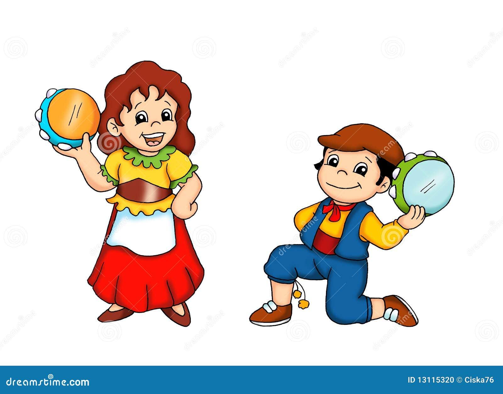 Bambini ed il ballo siciliano fotografia stock immagine for Immagini vector