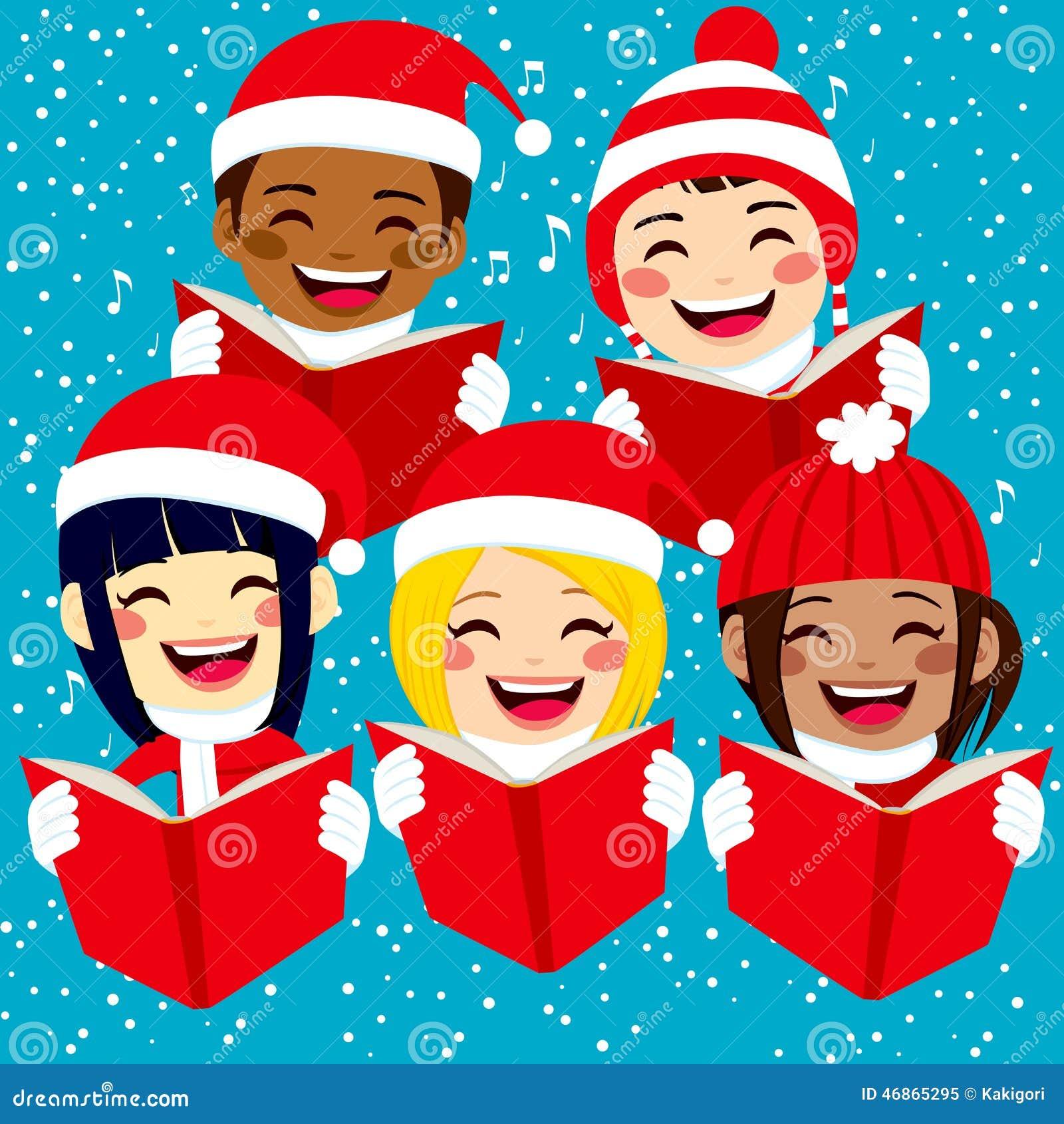 Immagini Di Bambini Per Natale.Bambini Felici Che Cantano Le Canzoni Di Natale