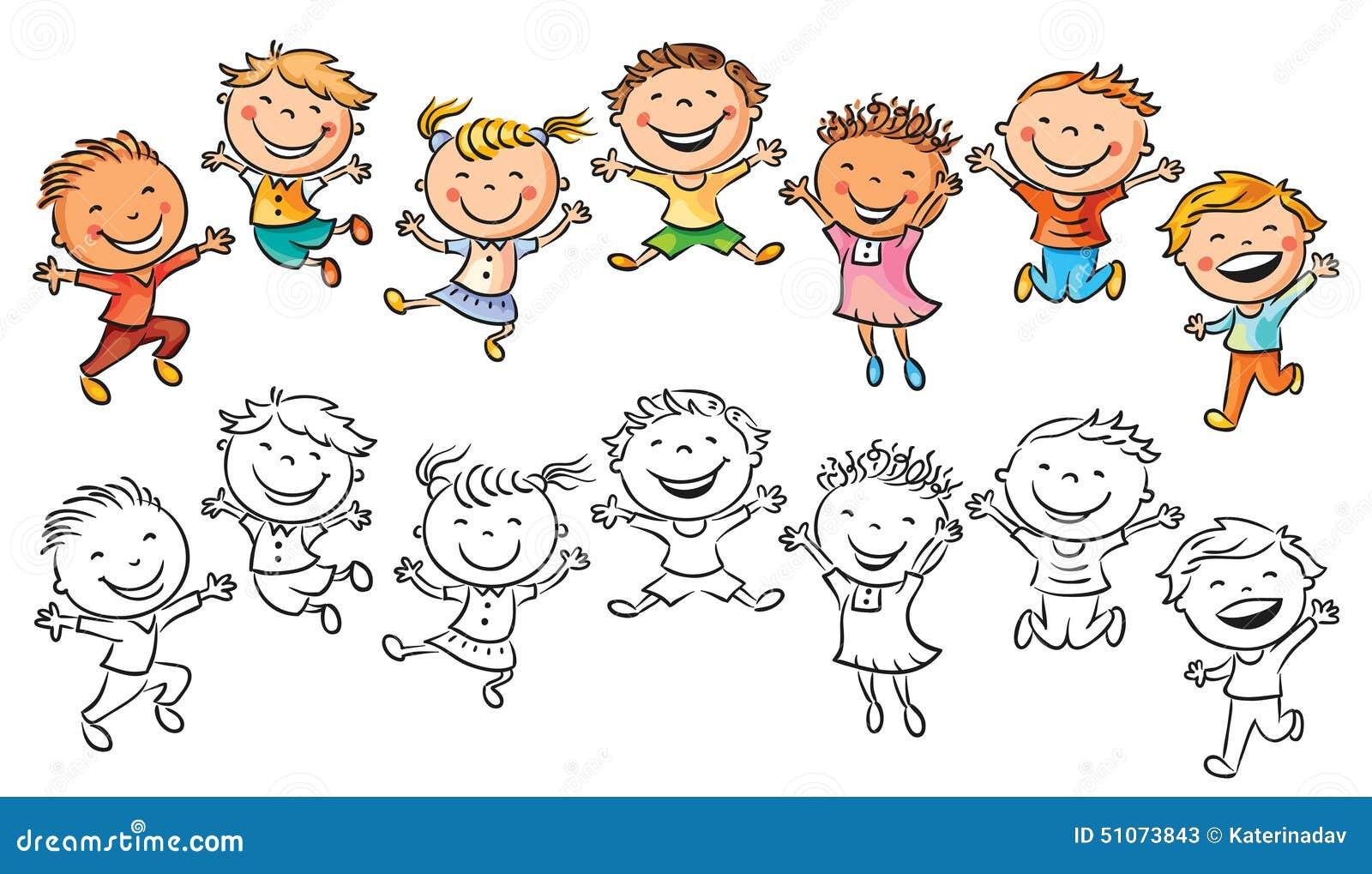 disegni da colorare bambini che ridono