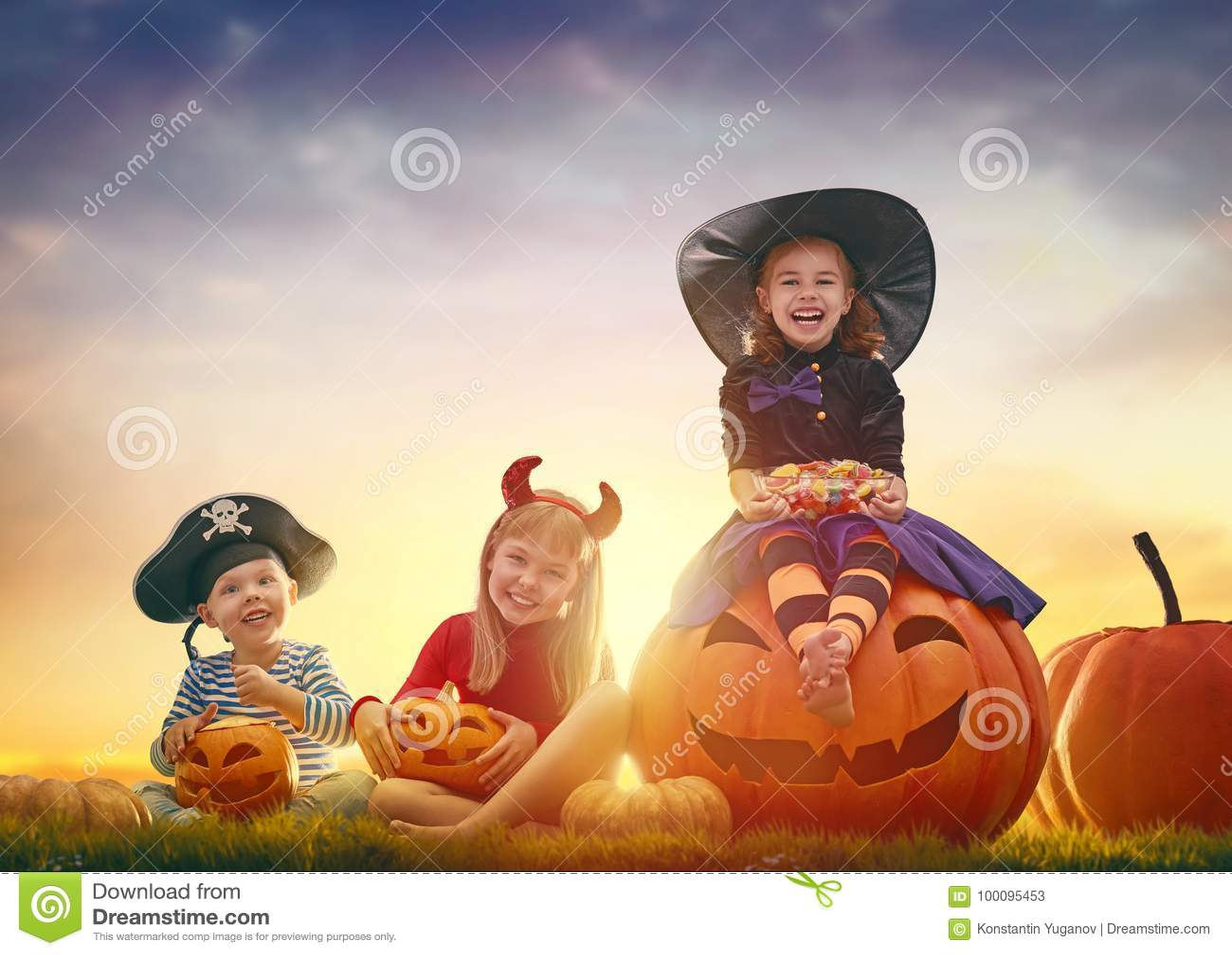 Bambini a Halloween