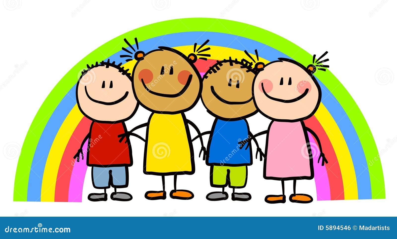 Bambini infantili del Rainbow dell illustrazione