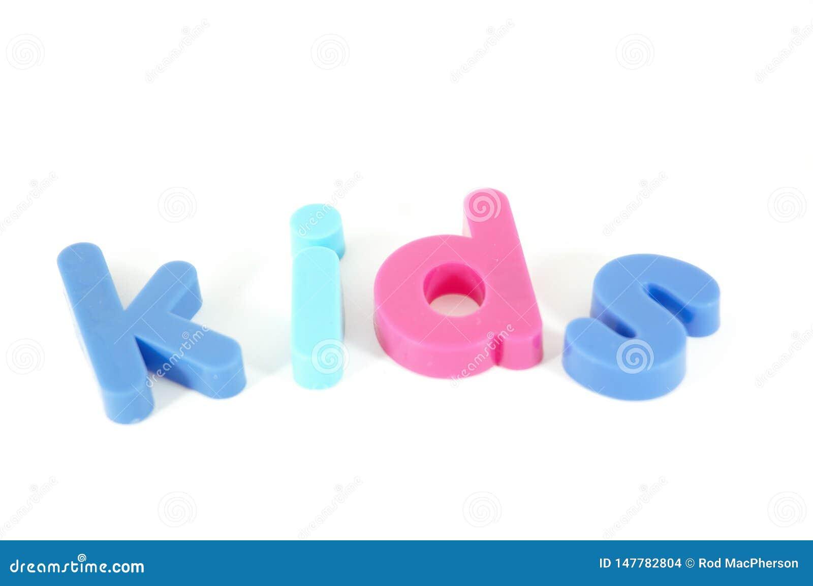 Bambini - iscrizione isolata su bianco