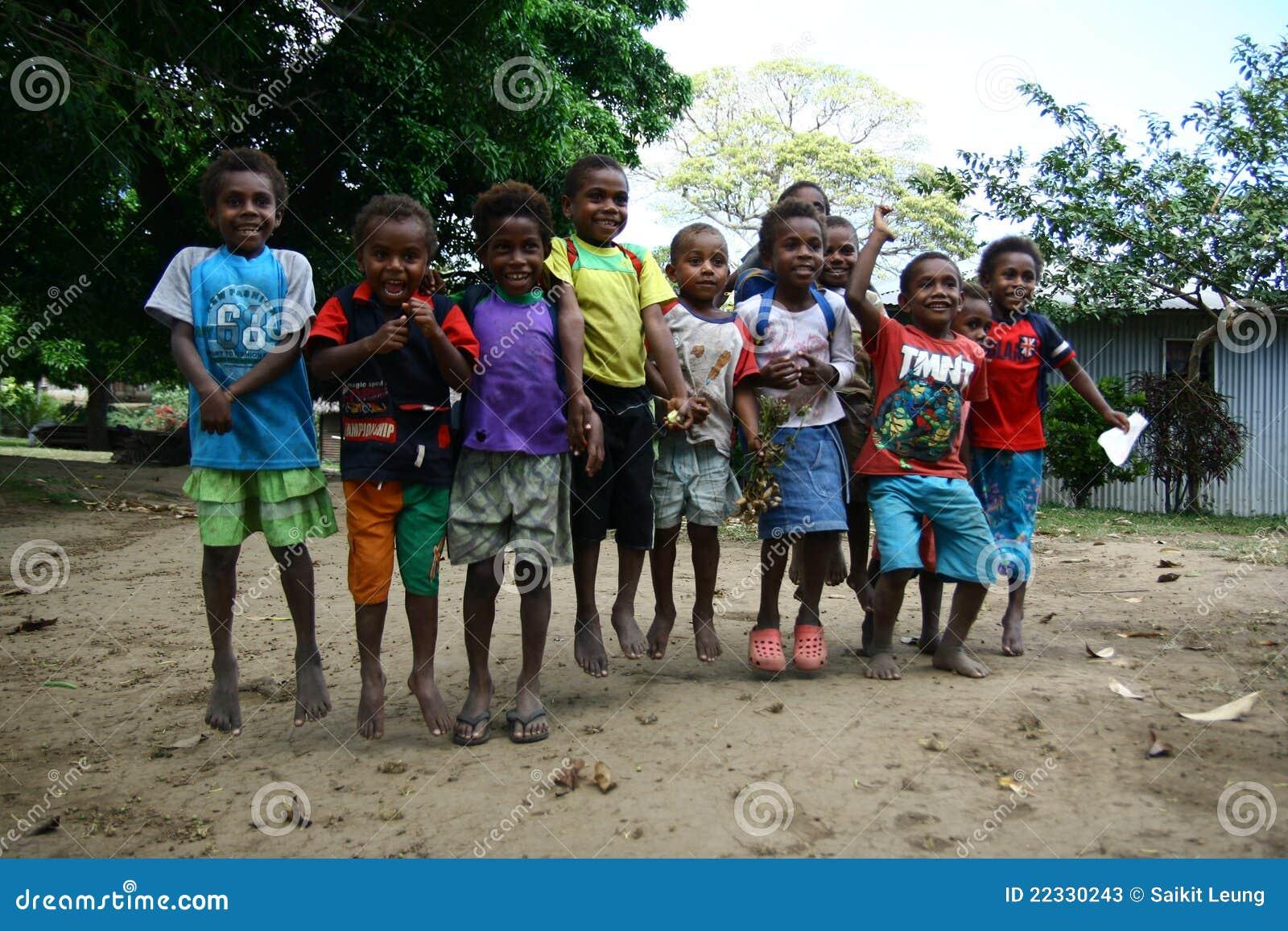 Bambini nel Vanuatu